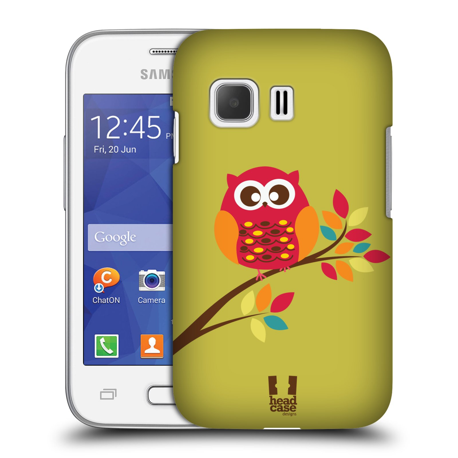 Plastové pouzdro na mobil Samsung Galaxy Young 2 HEAD CASE SOVIČKA NA VĚTVI (Kryt či obal na mobilní telefon Samsung Galaxy Young 2 SM-G130)