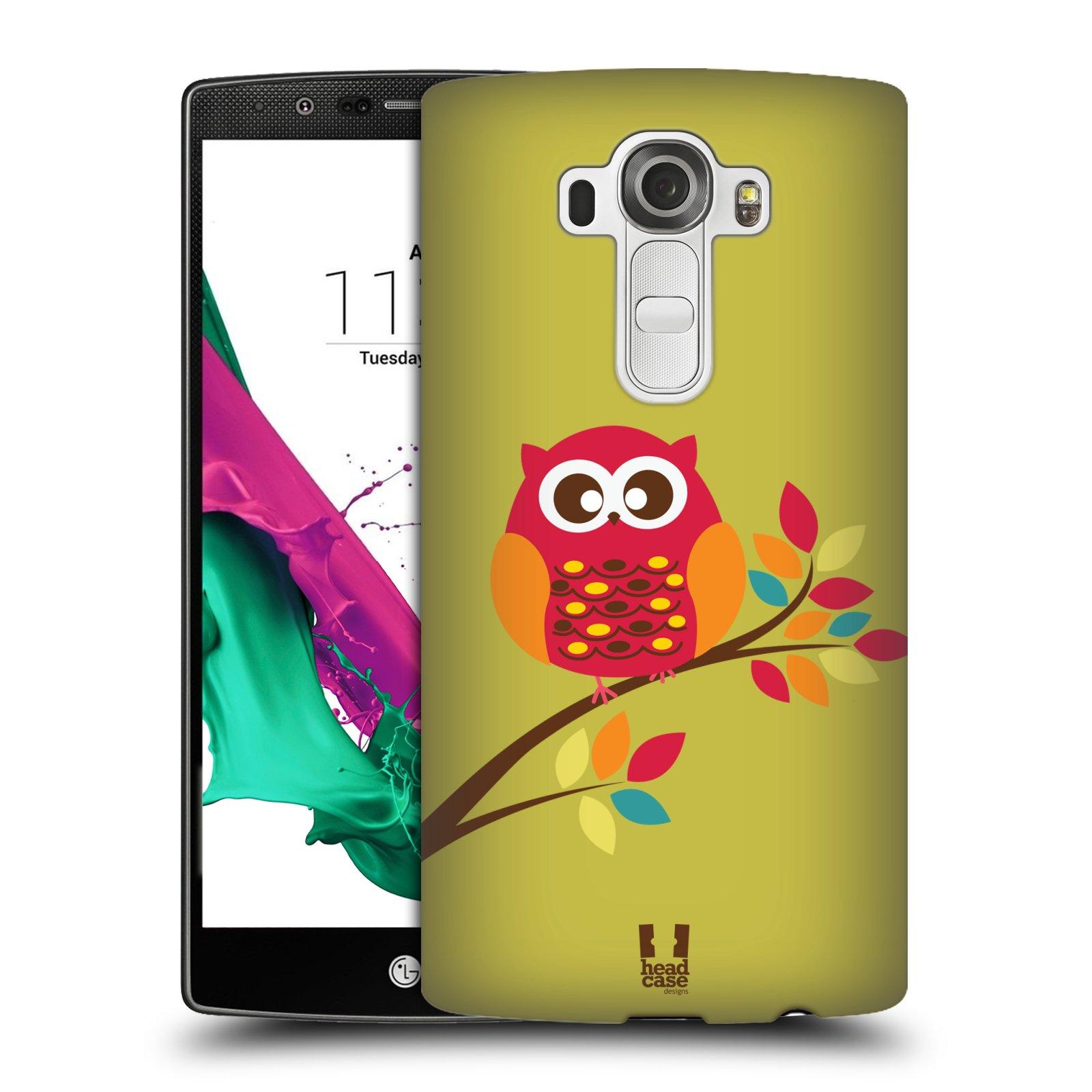 Plastové pouzdro na mobil LG G4 HEAD CASE SOVIČKA NA VĚTVI (Kryt či obal na mobilní telefon LG G4 H815)