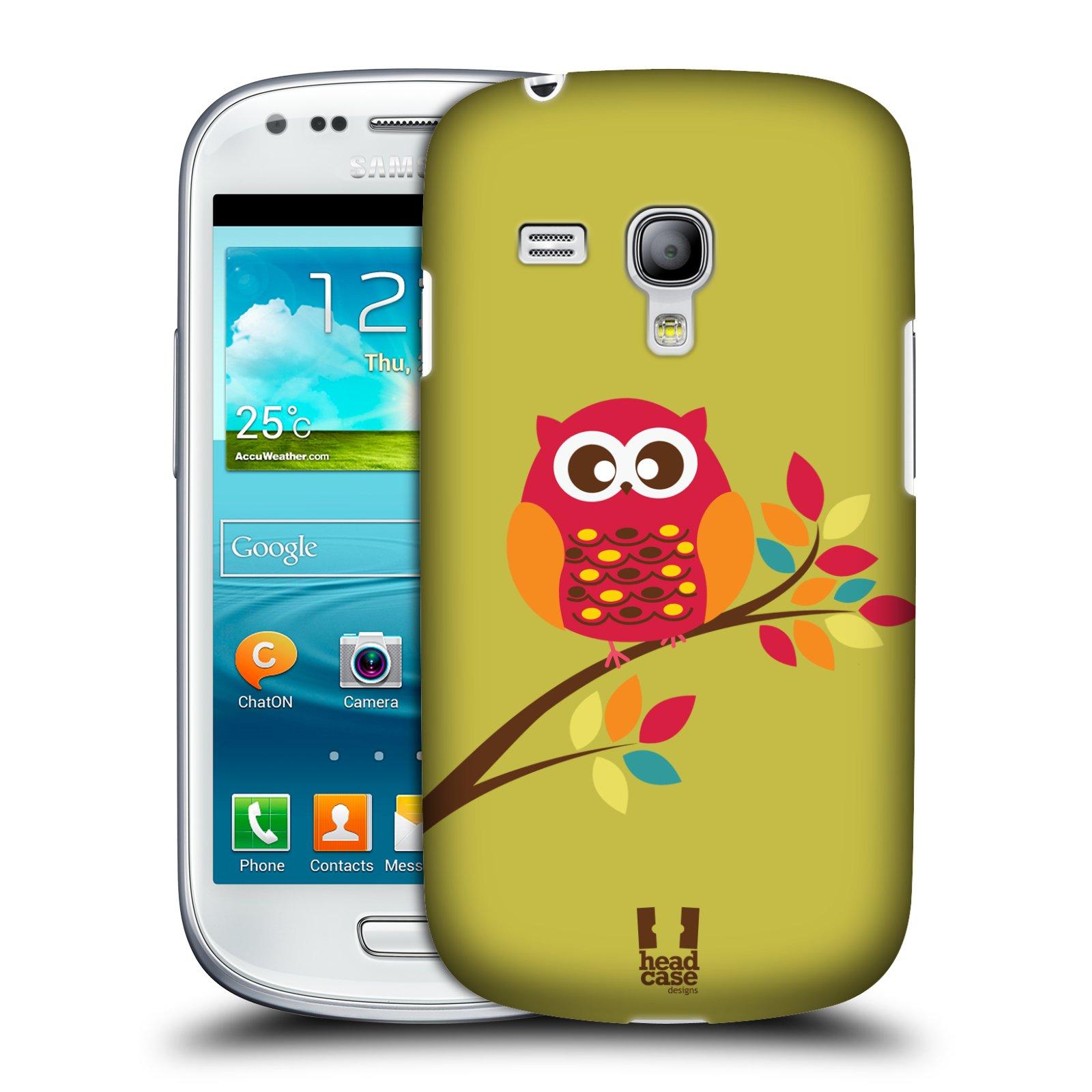 Plastové pouzdro na mobil Samsung Galaxy S3 Mini VE HEAD CASE SOVIČKA NA VĚTVI (Kryt či obal na mobilní telefon Samsung Galaxy S3 Mini VE GT-i8200)