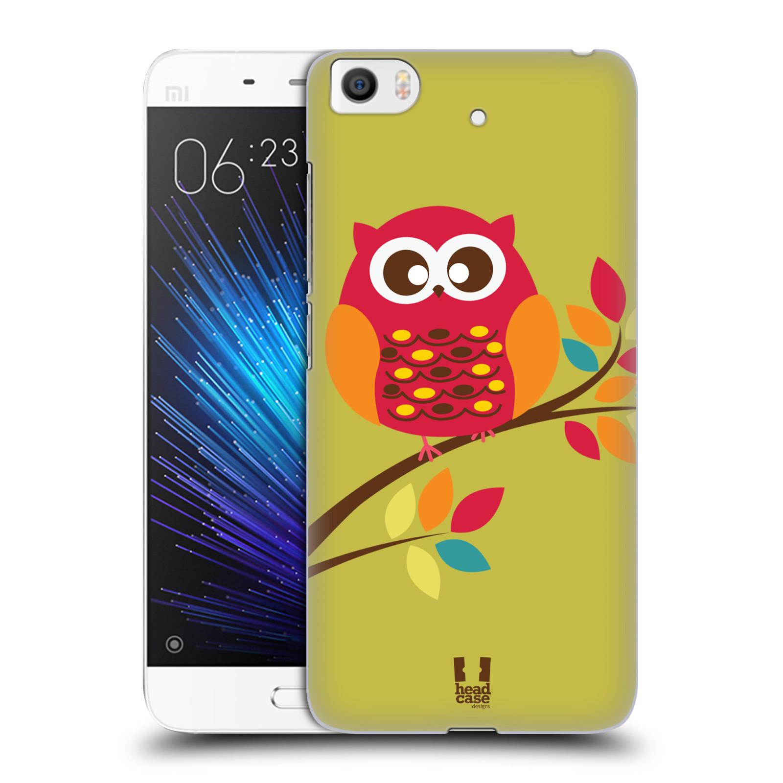 Plastové pouzdro na mobil Xiaomi Mi5s - Head Case SOVIČKA NA VĚTVI (Plastový kryt či obal na mobilní telefon Xiaomi Mi5s)
