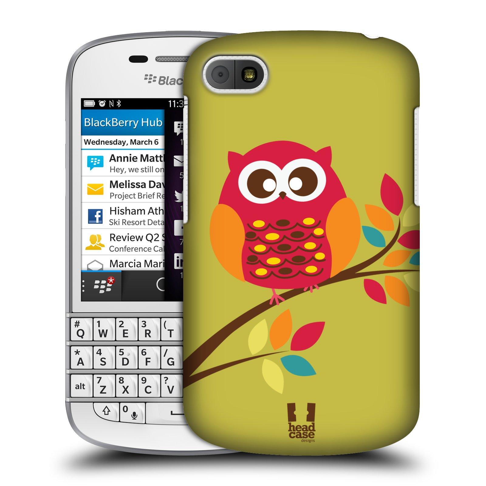 Plastové pouzdro na mobil Blackberry Q10 HEAD CASE SOVIČKA NA VĚTVI (Kryt či obal na mobilní telefon Blackberry Q10)