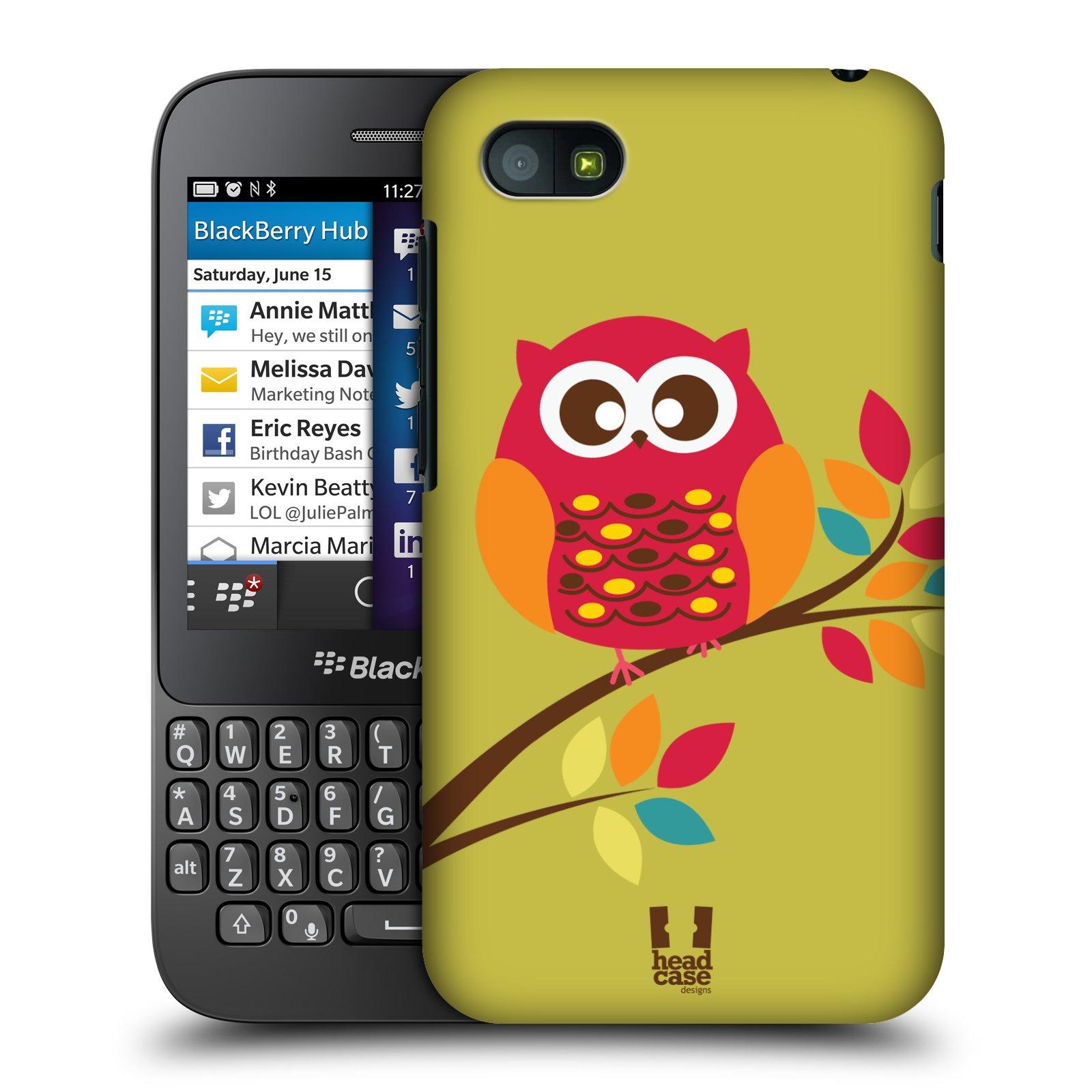 Plastové pouzdro na mobil Blackberry Q5 HEAD CASE SOVIČKA NA VĚTVI (Kryt či obal na mobilní telefon Blackberry Q5)