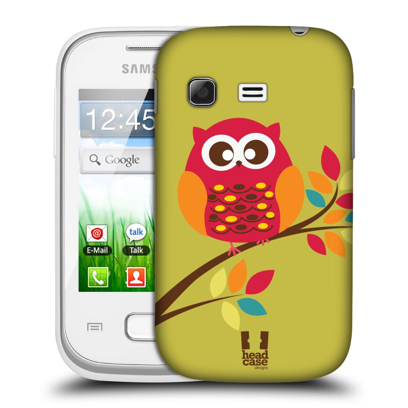 Plastové pouzdro na mobil Samsung Galaxy Pocket HEAD CASE SOVIČKA NA VĚTVI (Kryt či obal na mobilní telefon Samsung Galaxy Pocket GT-S5300)