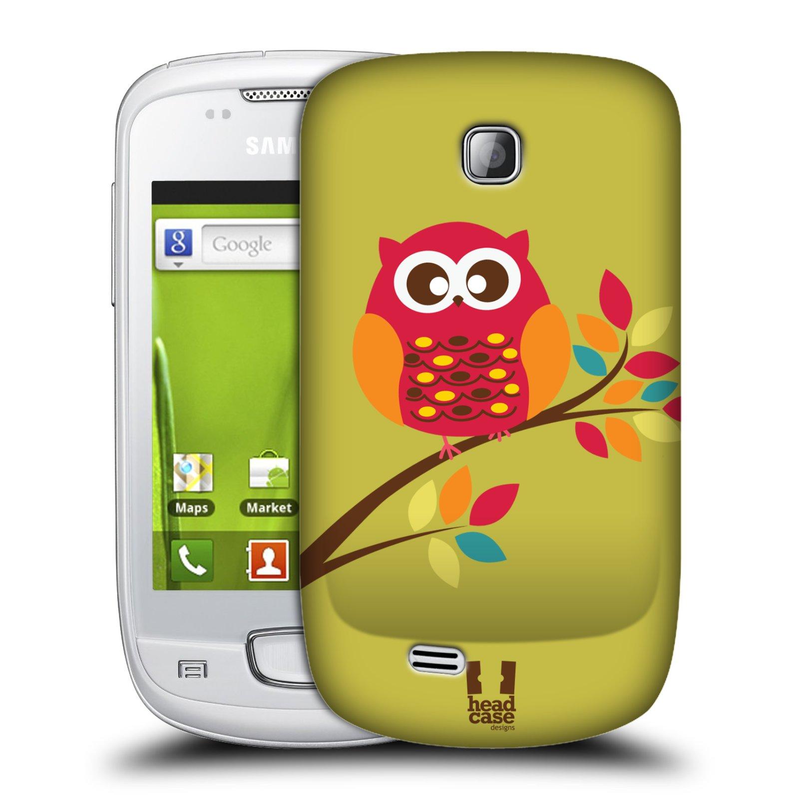 Plastové pouzdro na mobil Samsung Galaxy Mini HEAD CASE SOVIČKA NA VĚTVI (Kryt či obal na mobilní telefon Samsung Galaxy Mini GT-S5570 / GT-S5570i)
