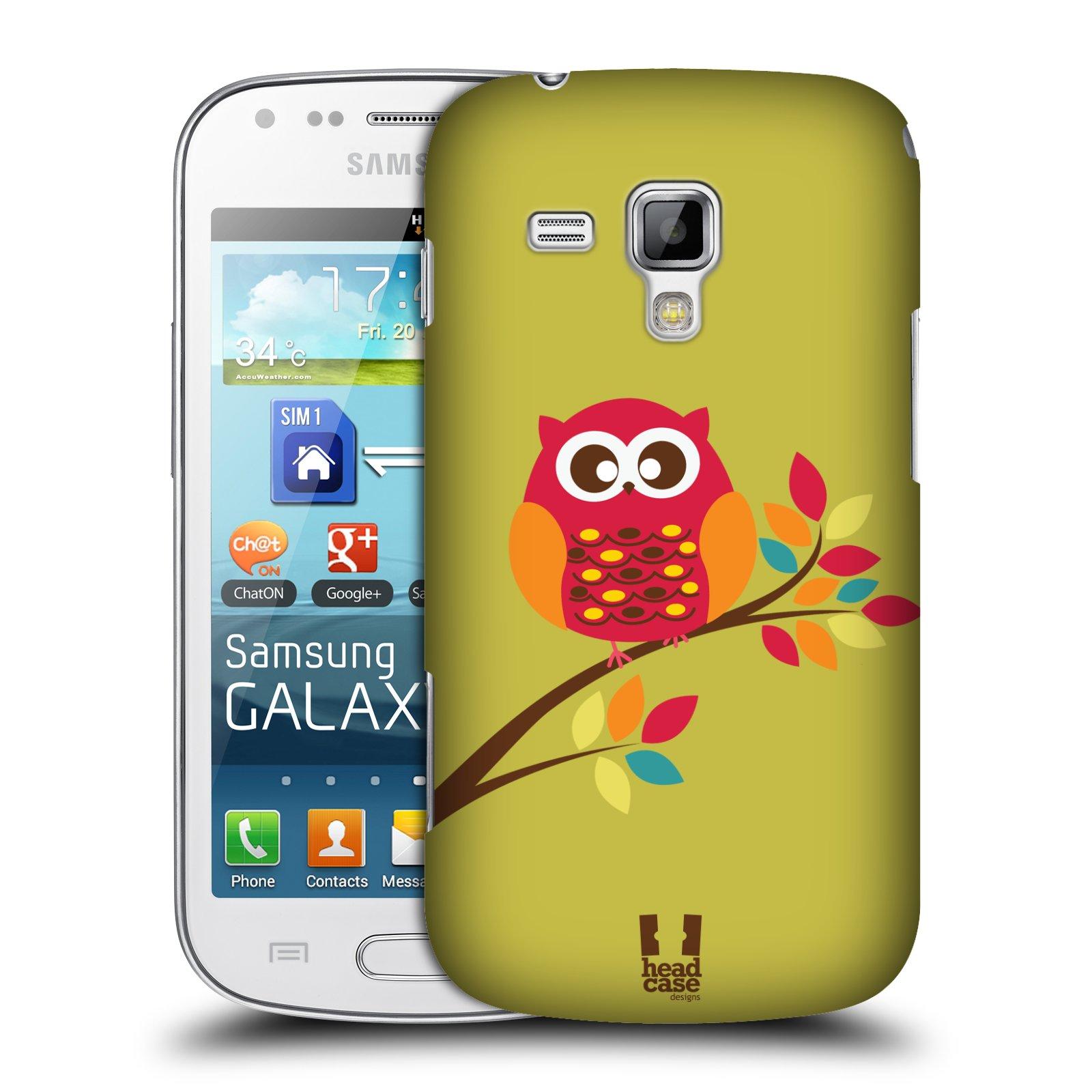 Plastové pouzdro na mobil Samsung Galaxy Trend Plus HEAD CASE SOVIČKA NA VĚTVI (Kryt či obal na mobilní telefon Samsung Galaxy Trend Plus GT-S7580)