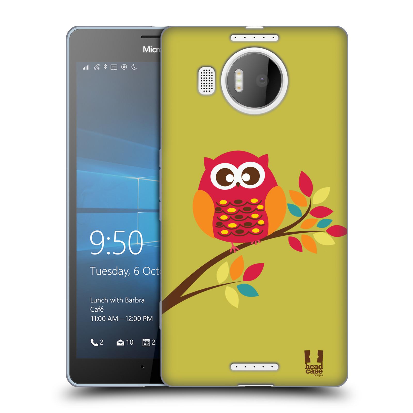 Silikonové pouzdro na mobil Microsoft Lumia 950 XL HEAD CASE SOVIČKA NA VĚTVI