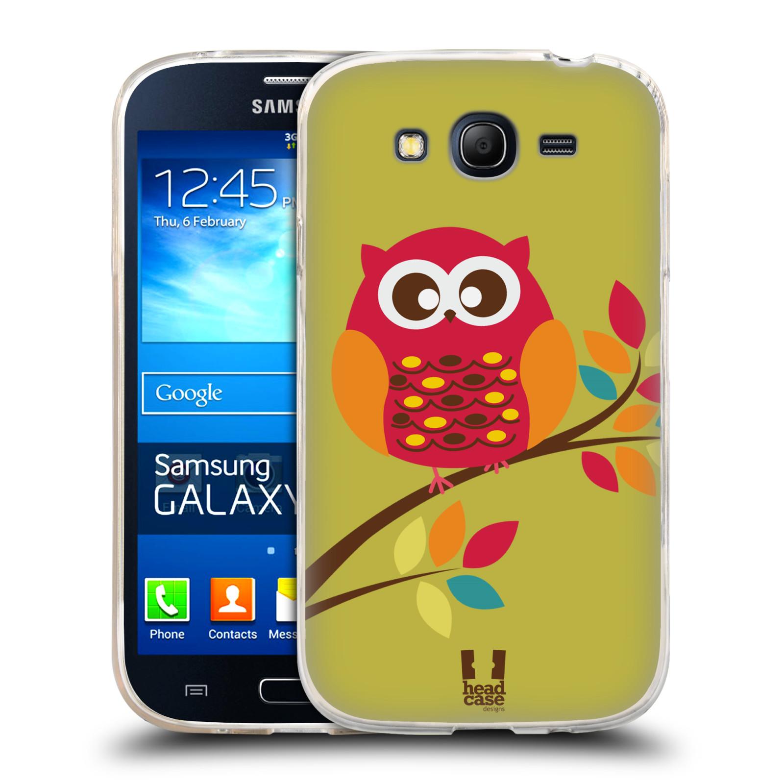 Silikonové pouzdro na mobil Samsung Galaxy Grand Neo HEAD CASE SOVIČKA NA VĚTVI (Silikonový kryt či obal na mobilní telefon Samsung Galaxy Grand Neo GT-I9060)