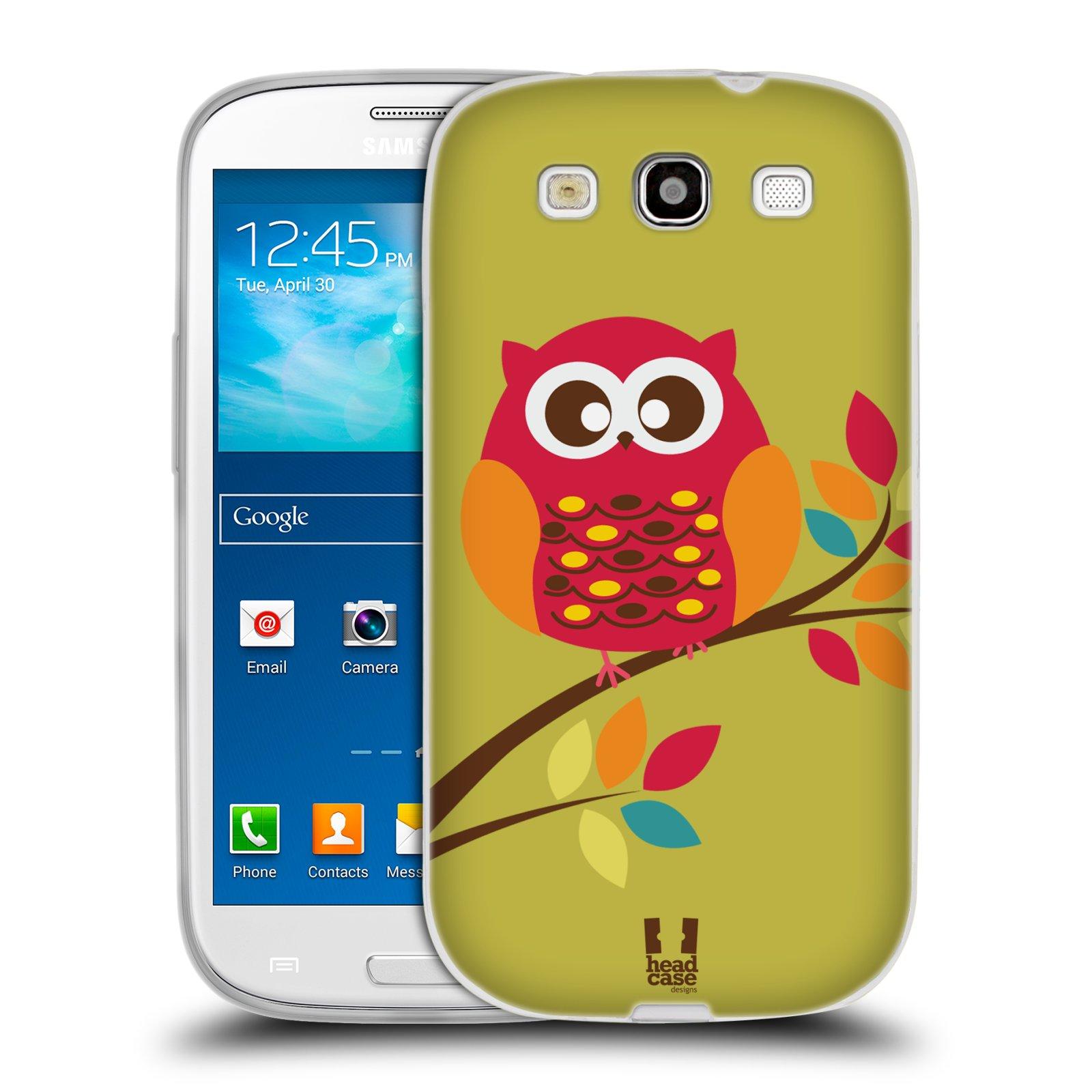 Silikonové pouzdro na mobil Samsung Galaxy S3 Neo HEAD CASE SOVIČKA NA VĚTVI (Silikonový kryt či obal na mobilní telefon Samsung Galaxy S3 Neo GT-i9301i)
