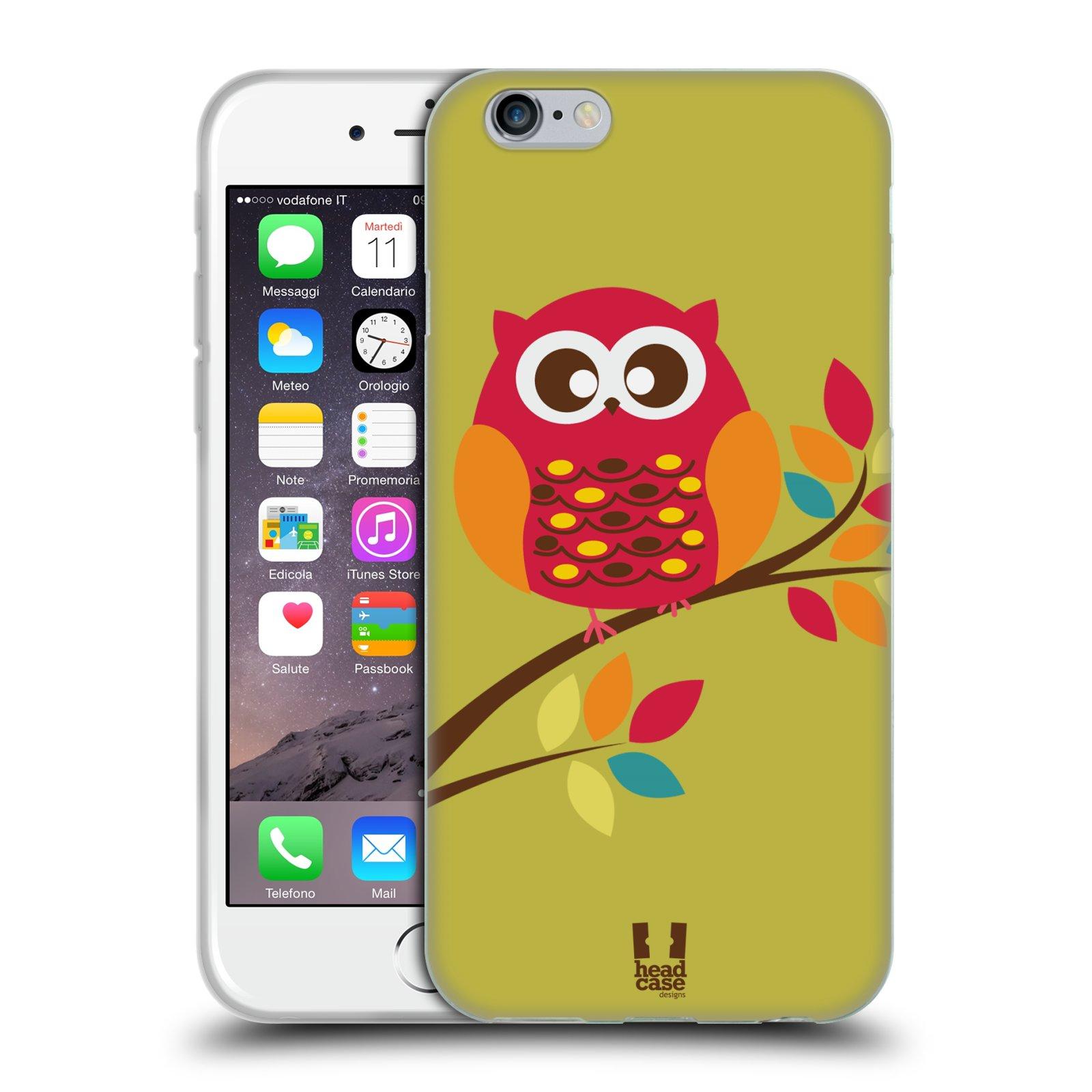 Silikonové pouzdro na mobil Apple iPhone 6 a 6S HEAD CASE SOVIČKA NA VĚTVI ( Silikonový 7dcd999e7ba