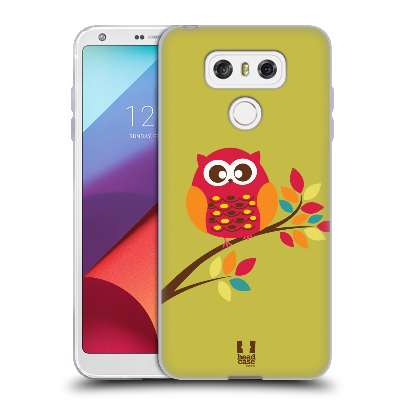 Silikonové pouzdro na mobil LG G6 - Head Case SOVIČKA NA VĚTVI (Silikonový kryt či obal na mobilní telefon LG G6 H870 / LG G6 Dual SIM H870DS)