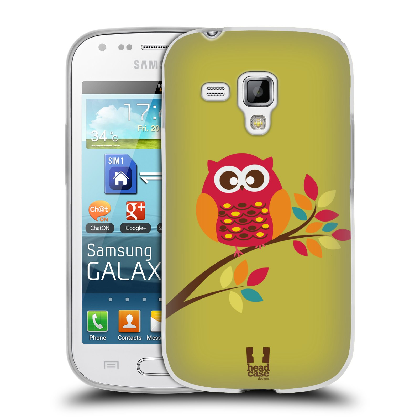 Silikonové pouzdro na mobil Samsung Galaxy Trend Plus HEAD CASE SOVIČKA NA VĚTVI (Silikonový kryt či obal na mobilní telefon Samsung Galaxy Trend Plus GT-S7580)