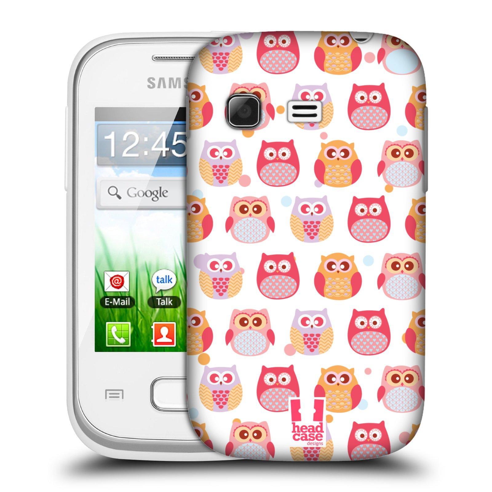 Plastové pouzdro na mobil Samsung Galaxy Pocket HEAD CASE SOVIČKY VYKULENÉ (Kryt či obal na mobilní telefon Samsung Galaxy Pocket GT-S5300)