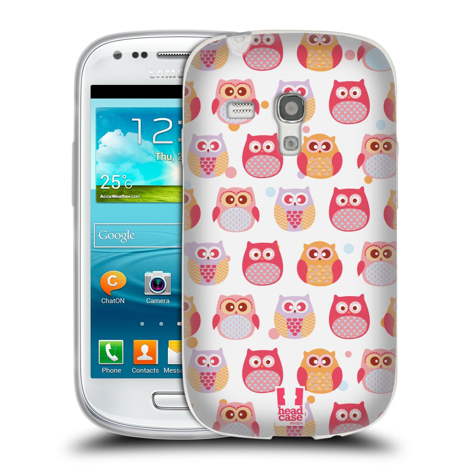 Silikonové pouzdro na mobil Samsung Galaxy S III Mini HEAD CASE SOVIČKY VYKULENÉ (Silikonový kryt či obal na mobilní telefon Samsung Galaxy S III Mini GT-i8190)