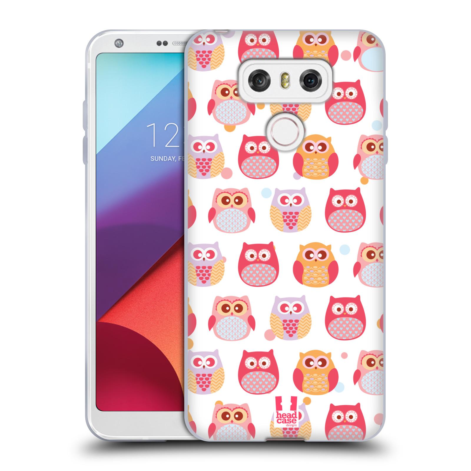Silikonové pouzdro na mobil LG G6 - Head Case SOVIČKY VYKULENÉ (Silikonový kryt či obal na mobilní telefon LG G6 H870 / LG G6 Dual SIM H870DS)