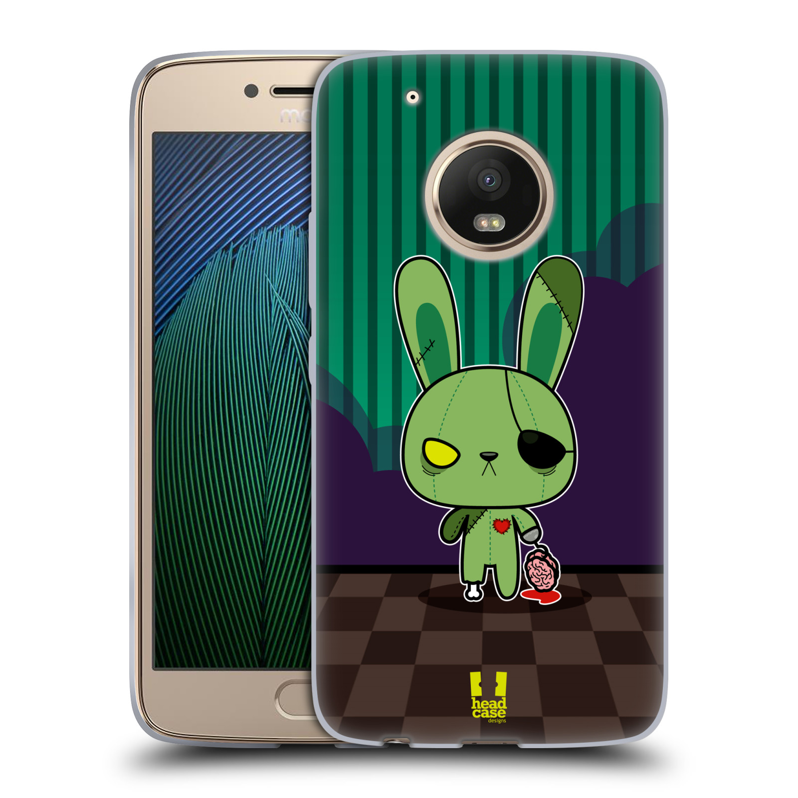 Silikonové pouzdro na mobil Lenovo Moto G5 Plus - Head Case ZOMBIE KRÁLÍČEK