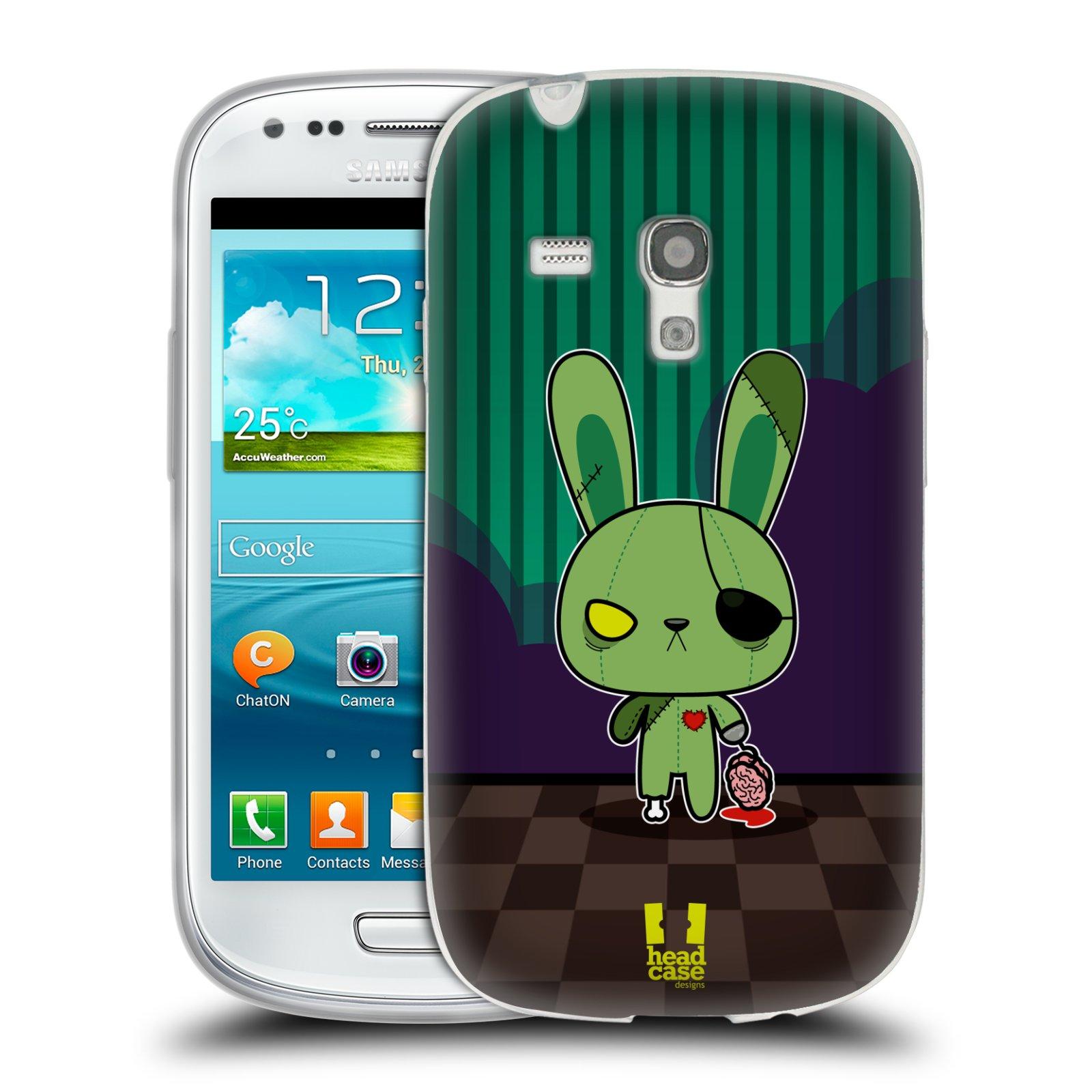 Silikonové pouzdro na mobil Samsung Galaxy S III Mini HEAD CASE ZOMBIE KRÁLÍČEK (Silikonový kryt či obal na mobilní telefon Samsung Galaxy S III Mini GT-i8190)