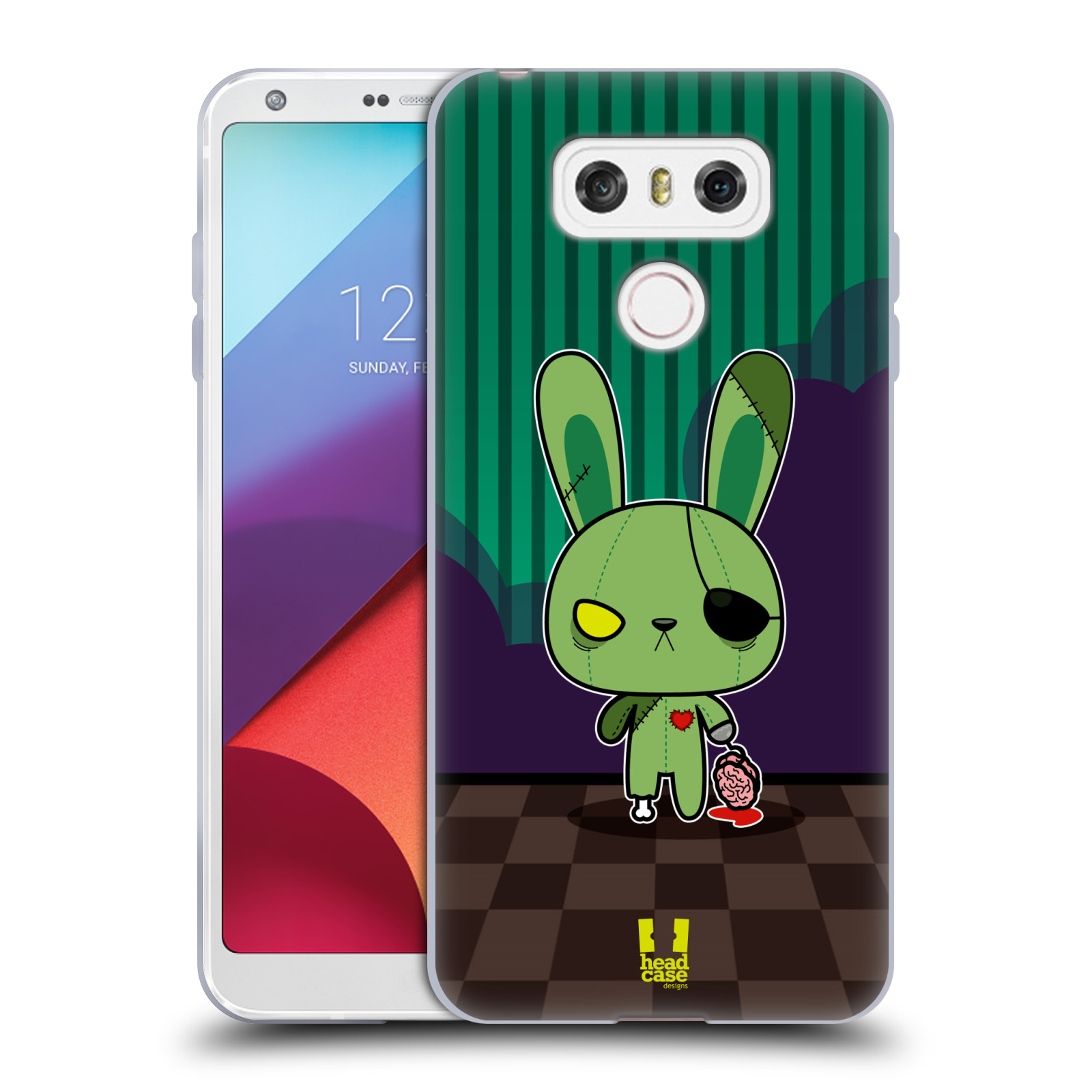 Silikonové pouzdro na mobil LG G6 - Head Case ZOMBIE KRÁLÍČEK (Silikonový kryt či obal na mobilní telefon LG G6 H870 / LG G6 Dual SIM H870DS)