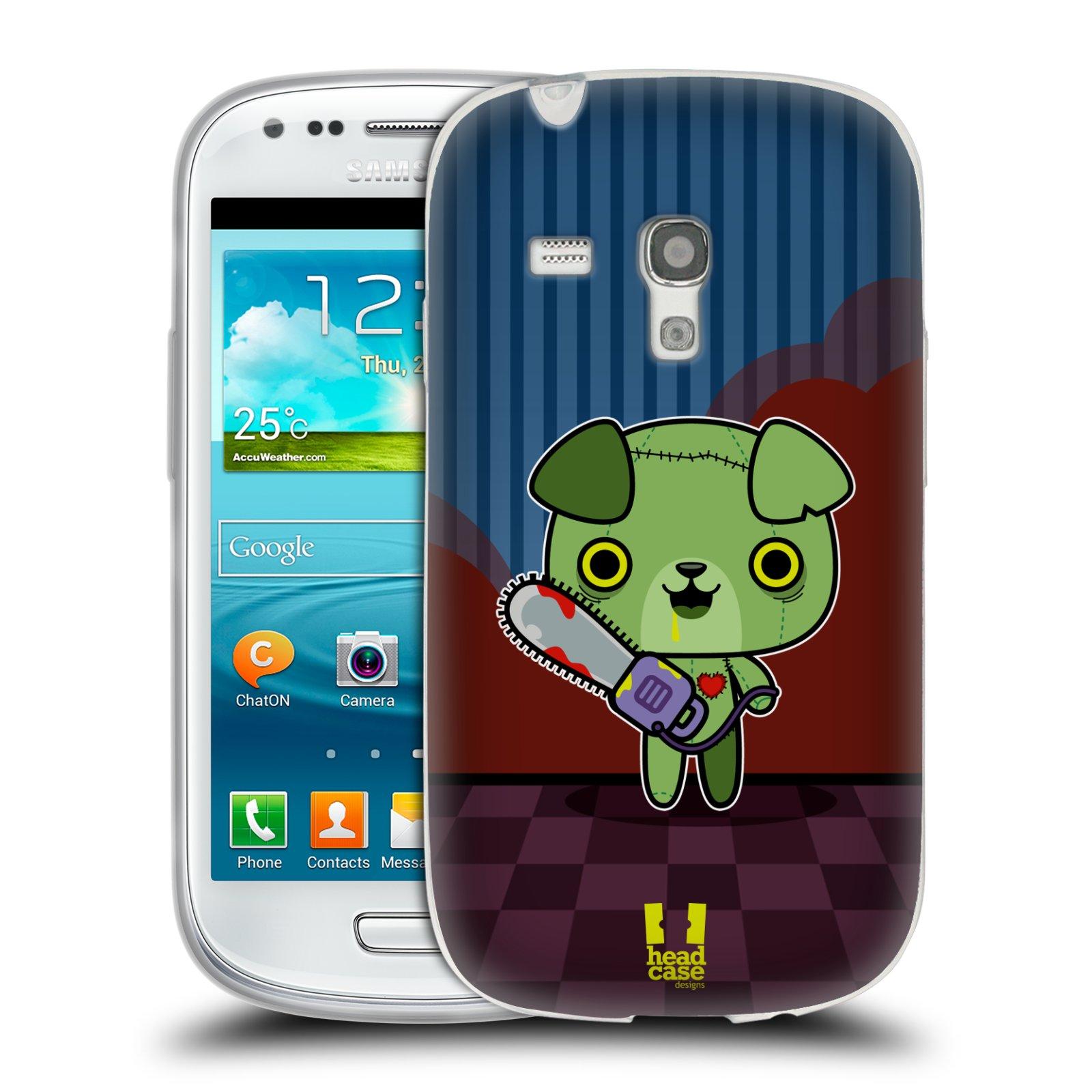 Silikonové pouzdro na mobil Samsung Galaxy S III Mini HEAD CASE ZOMBIE ŠTĚNĚ (Silikonový kryt či obal na mobilní telefon Samsung Galaxy S III Mini GT-i8190)