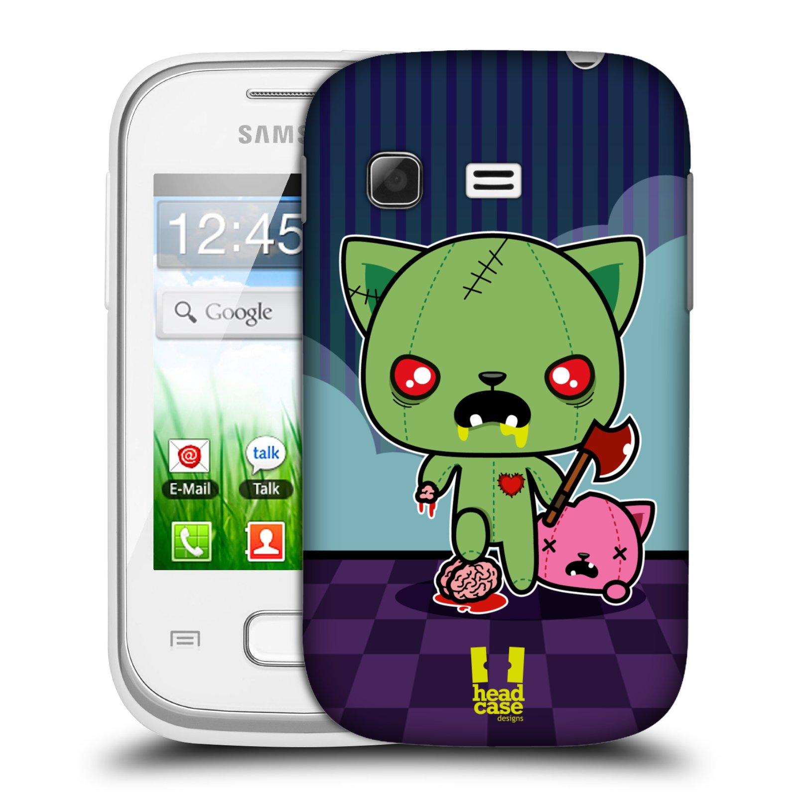 Plastové pouzdro na mobil Samsung Galaxy Pocket HEAD CASE ZOMBIE KOČIČKA (Kryt či obal na mobilní telefon Samsung Galaxy Pocket GT-S5300)