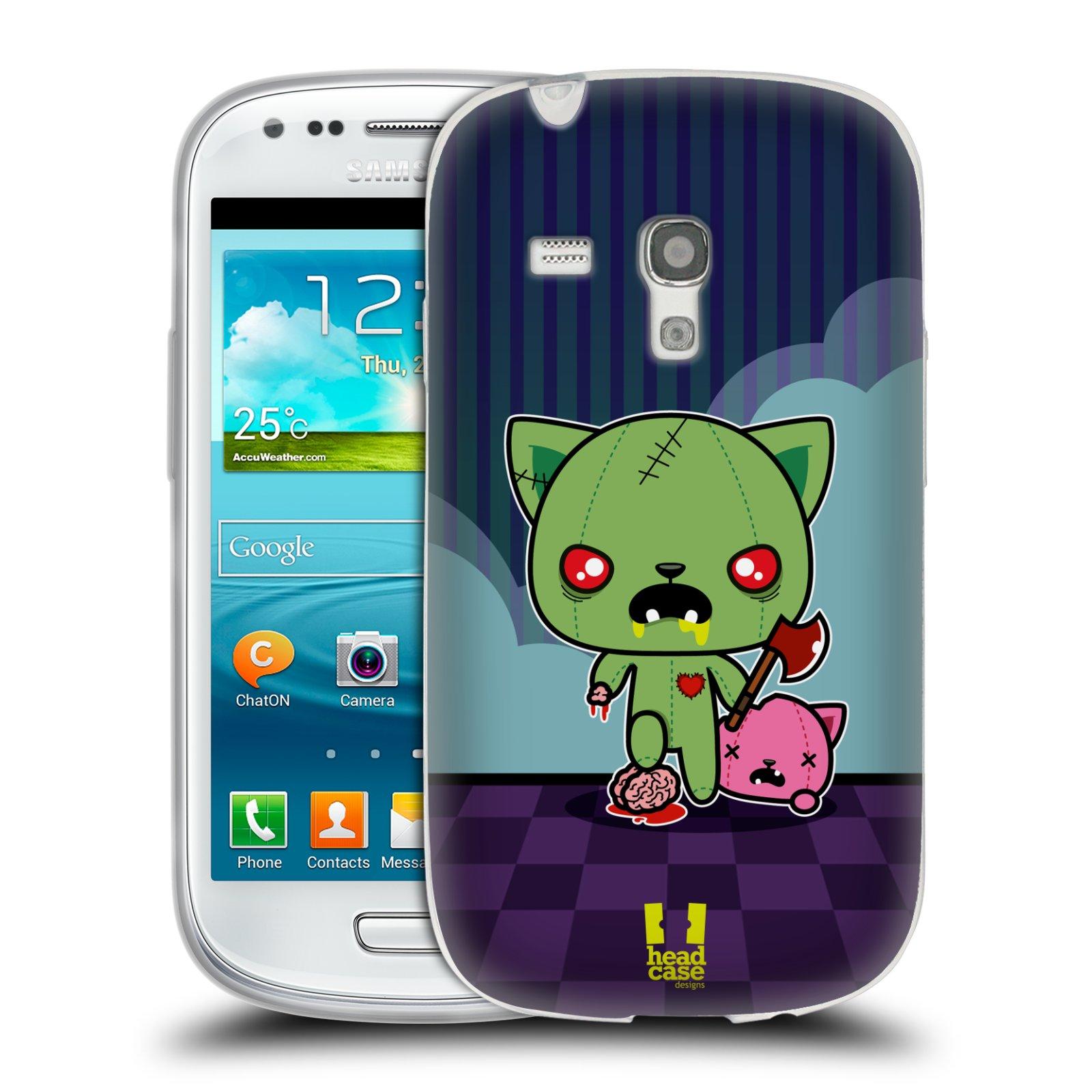 Silikonové pouzdro na mobil Samsung Galaxy S III Mini HEAD CASE ZOMBIE KOČIČKA (Silikonový kryt či obal na mobilní telefon Samsung Galaxy S III Mini GT-i8190)