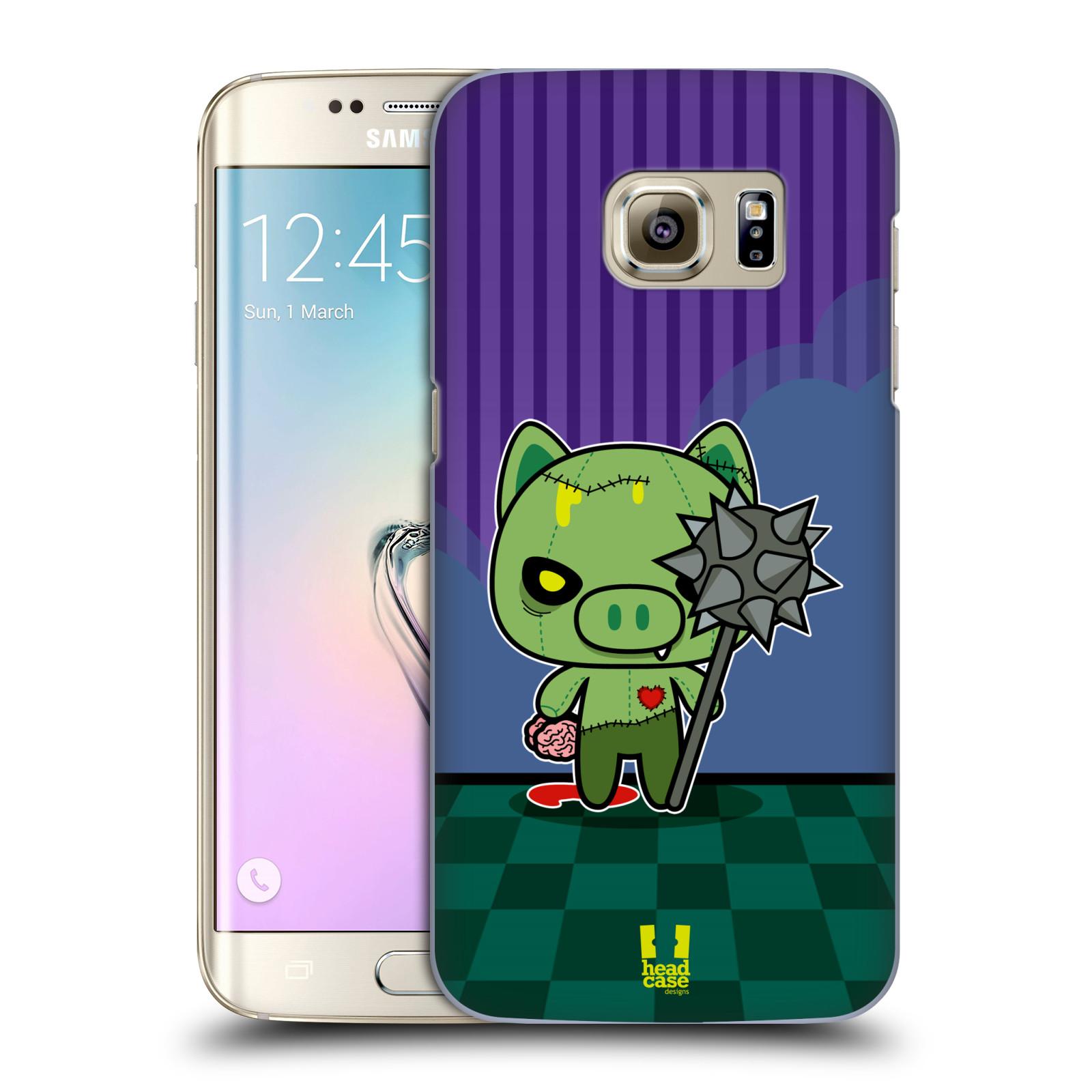 Plastové pouzdro na mobil Samsung Galaxy S7 Edge HEAD CASE ZOMBIE PAŠÍK (Kryt či obal na mobilní telefon Samsung Galaxy S7 Edge SM-G935F)