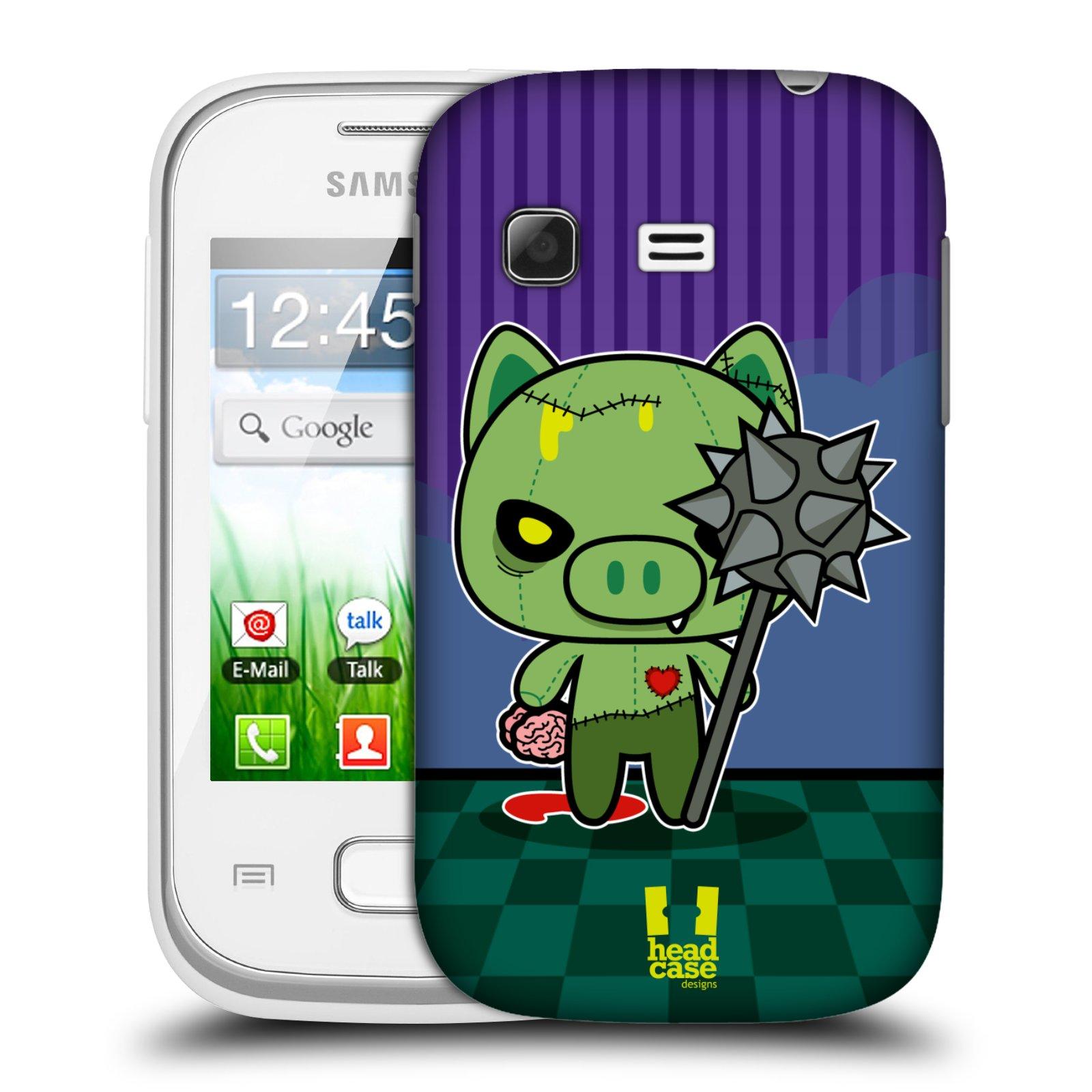 Plastové pouzdro na mobil Samsung Galaxy Pocket HEAD CASE ZOMBIE PAŠÍK (Kryt či obal na mobilní telefon Samsung Galaxy Pocket GT-S5300)