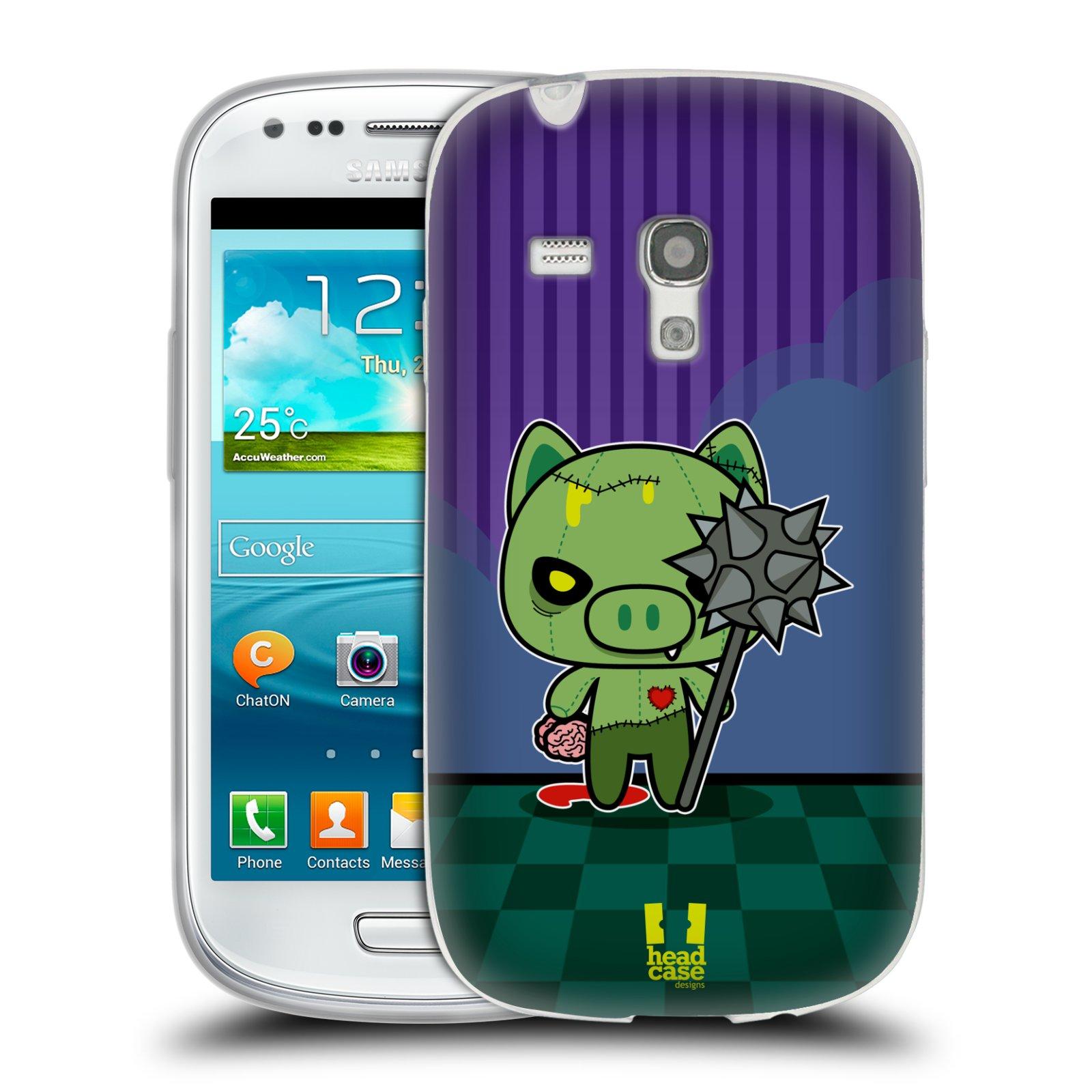 Silikonové pouzdro na mobil Samsung Galaxy S III Mini HEAD CASE ZOMBIE PAŠÍK (Silikonový kryt či obal na mobilní telefon Samsung Galaxy S III Mini GT-i8190)
