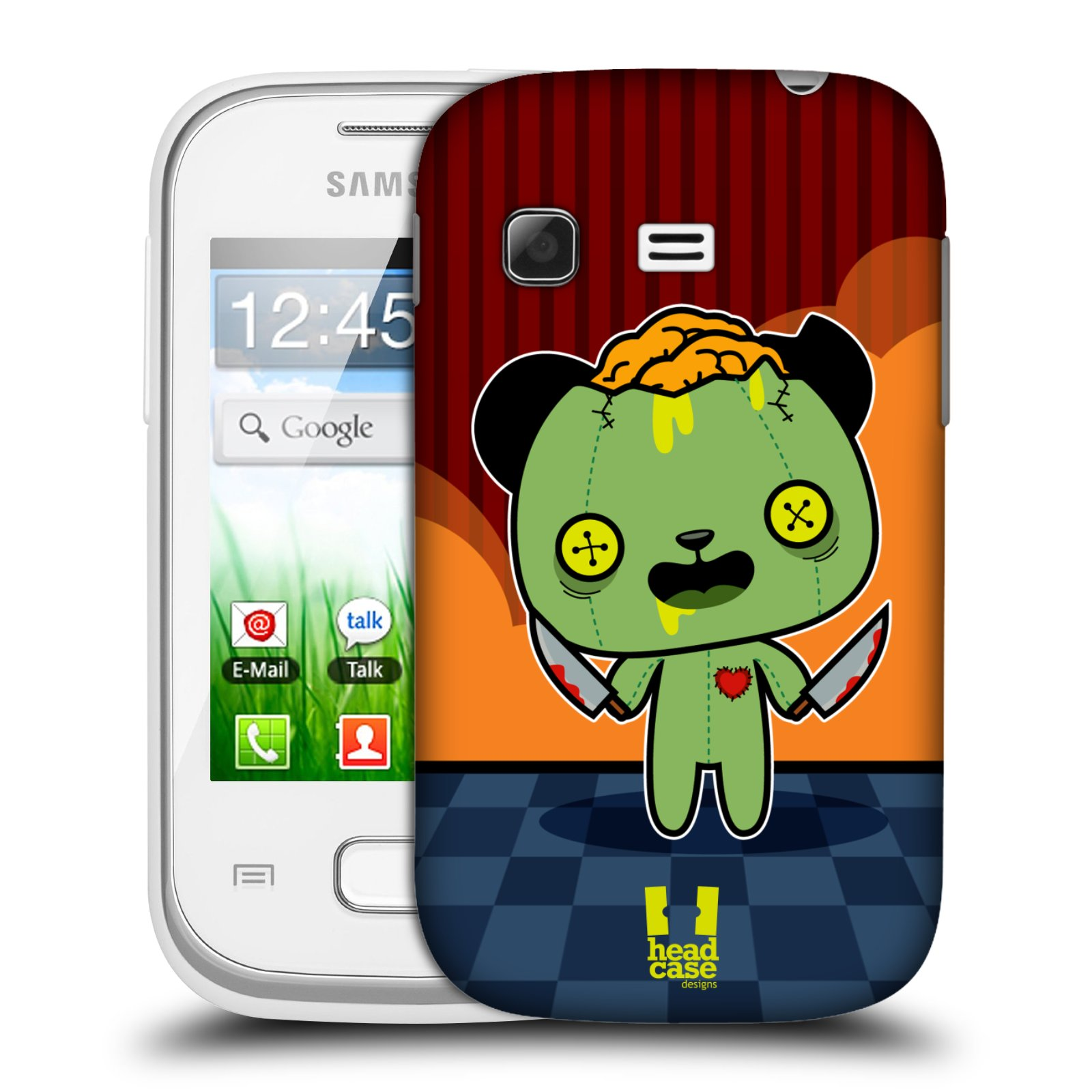 Plastové pouzdro na mobil Samsung Galaxy Pocket HEAD CASE ZOMBIE PANDA (Kryt či obal na mobilní telefon Samsung Galaxy Pocket GT-S5300)
