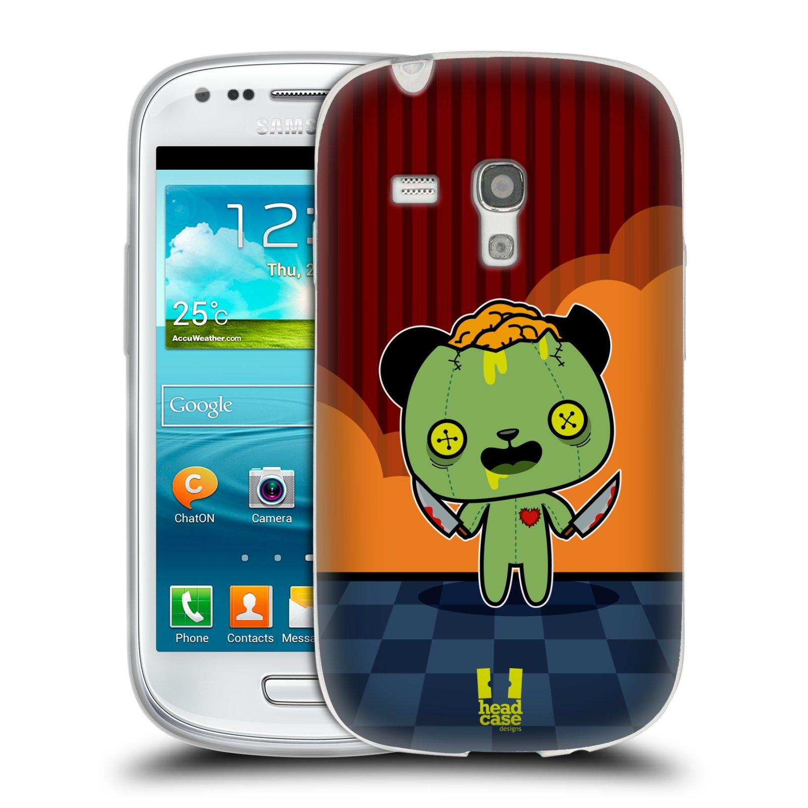 Silikonové pouzdro na mobil Samsung Galaxy S III Mini HEAD CASE ZOMBIE PANDA (Silikonový kryt či obal na mobilní telefon Samsung Galaxy S III Mini GT-i8190)