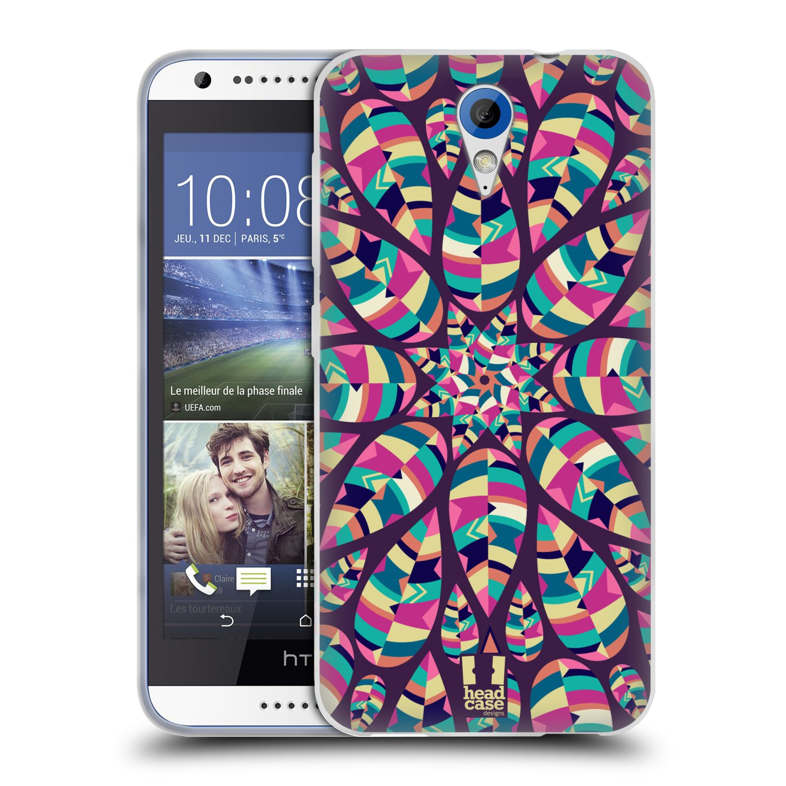 Silikonové pouzdro na mobil HTC Desire 620 HEAD CASE Shine (Silikonový kryt či obal na mobilní telefon HTC Desire 620)