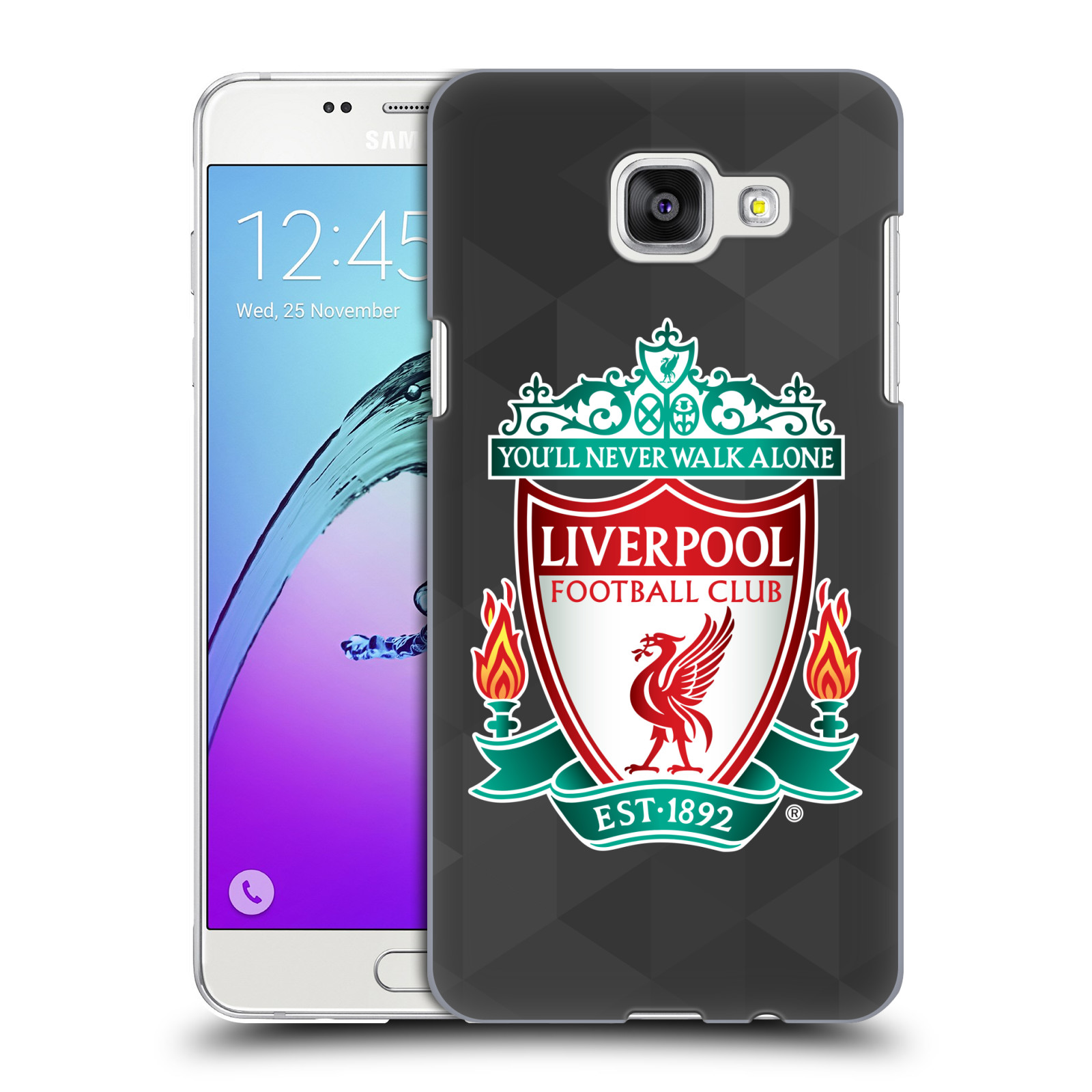 Plastové pouzdro na mobil Samsung Galaxy A5 (2016) HEAD CASE ZNAK LIVERPOOL FC OFFICIAL GEOMETRIC BLACK