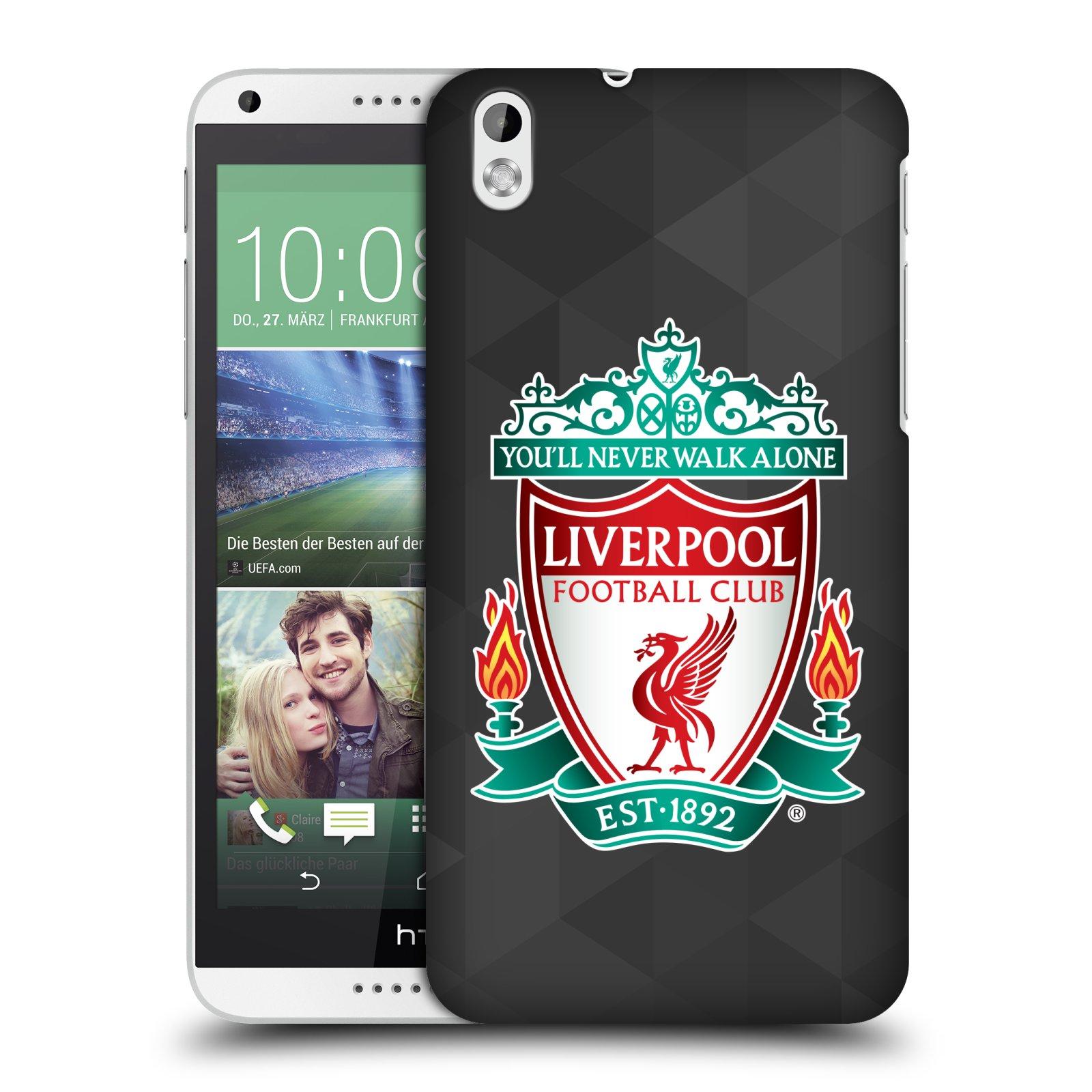 Plastové pouzdro na mobil HTC Desire 816 HEAD CASE ZNAK LIVERPOOL FC OFFICIAL GEOMETRIC BLACK (Kryt či obal na mobilní telefon Liverpool FC Official pro HTC Desire 816)