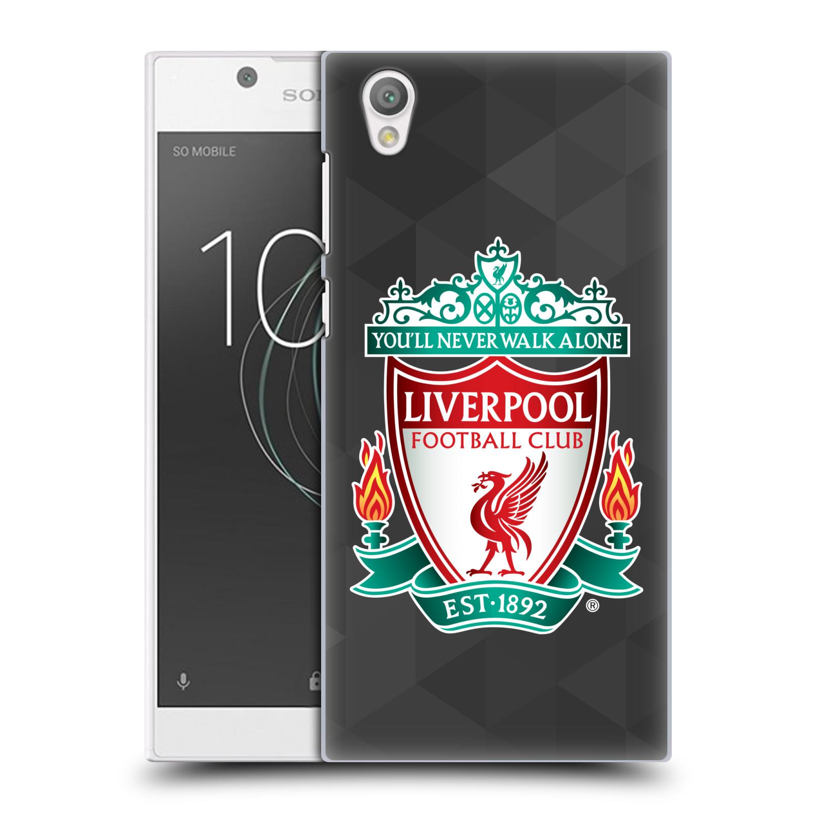 Plastové pouzdro na mobil Sony Xperia L1 - Head Case - ZNAK LIVERPOOL FC OFFICIAL GEOMETRIC BLACK