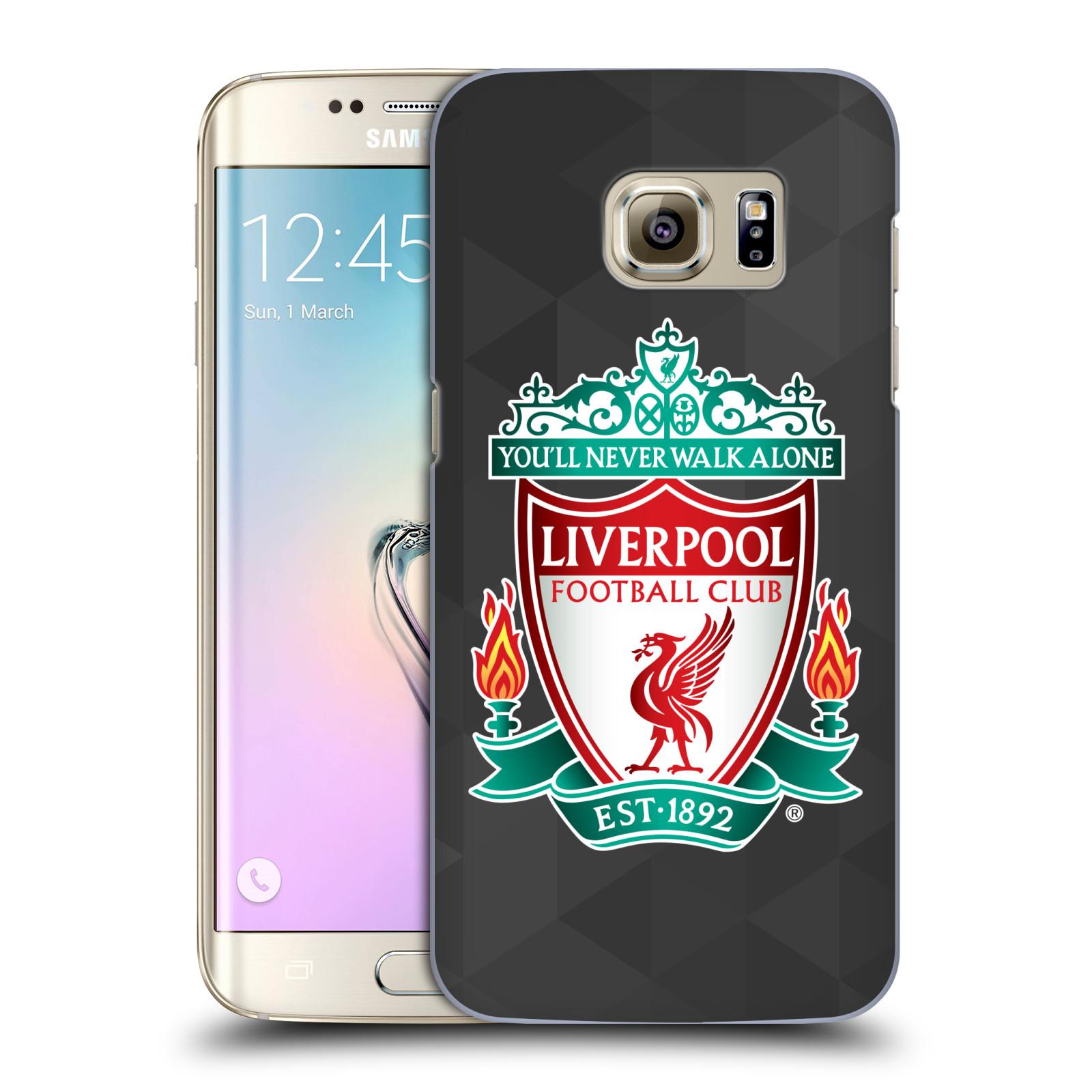 Plastové pouzdro na mobil Samsung Galaxy S7 Edge HEAD CASE ZNAK LIVERPOOL FC OFFICIAL GEOMETRIC BLACK (Kryt či obal na mobilní telefon Liverpool FC Official pro Samsung Galaxy S7 Edge SM-G935F)