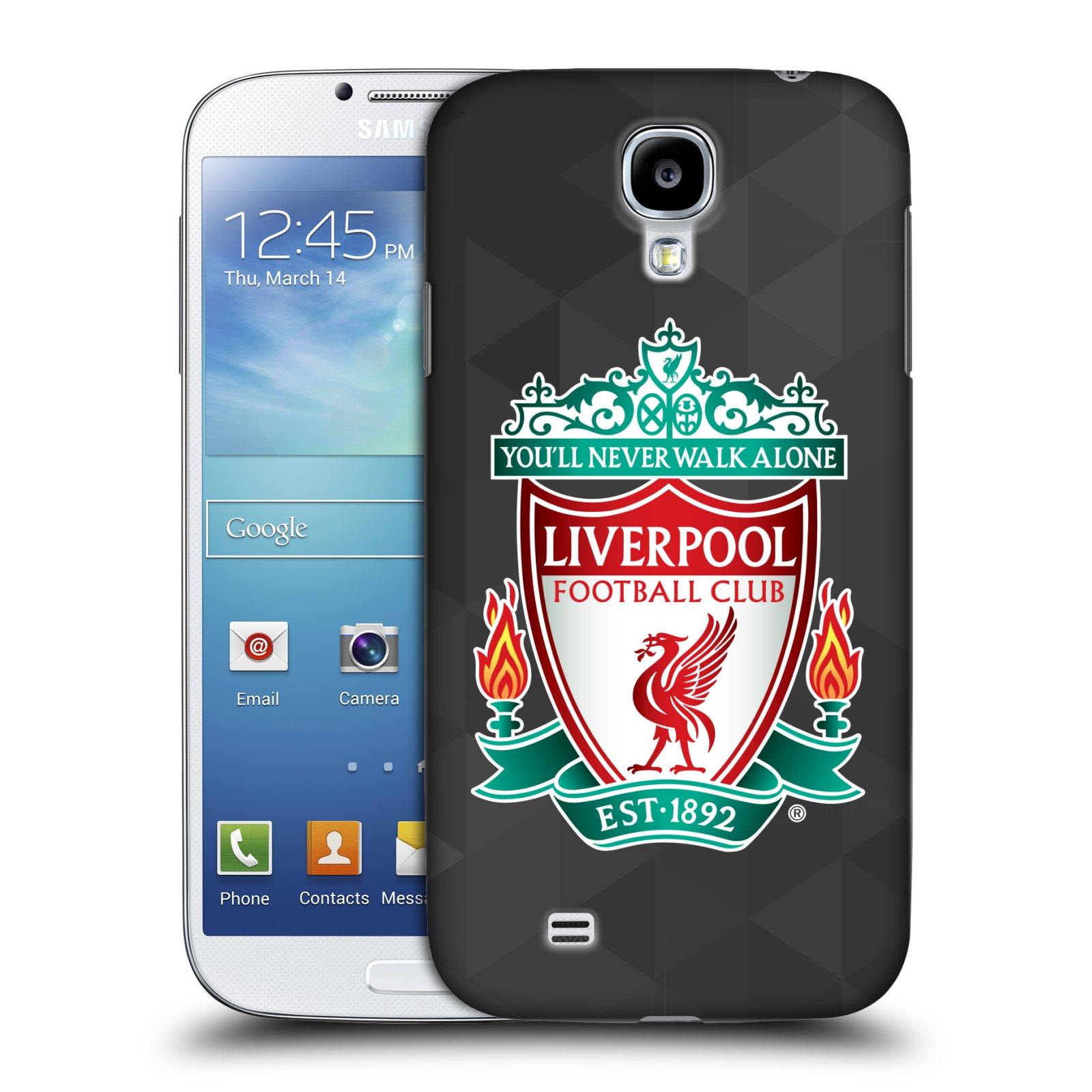Plastové pouzdro na mobil Samsung Galaxy S4 HEAD CASE ZNAK LIVERPOOL FC OFFICIAL GEOMETRIC BLACK (Kryt či obal na mobilní telefon Liverpool FC Official pro Samsung Galaxy S4 GT-i9505 / i9500)