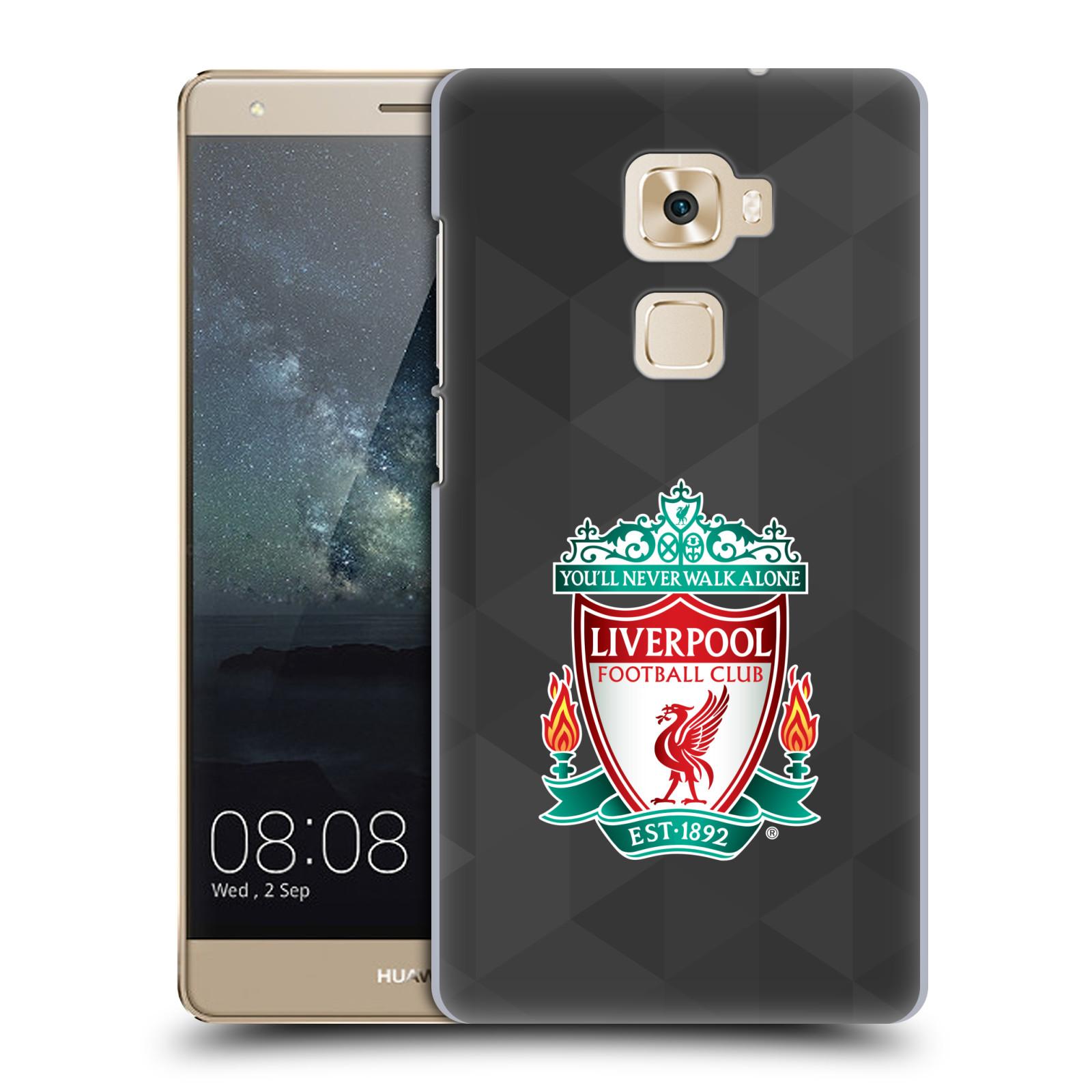 Plastové pouzdro na mobil Huawei Mate S HEAD CASE ZNAK LIVERPOOL FC OFFICIAL GEOMETRIC BLACK (Plastový kryt či obal na mobilní telefon Liverpool FC Official pro Huawei Mate S)