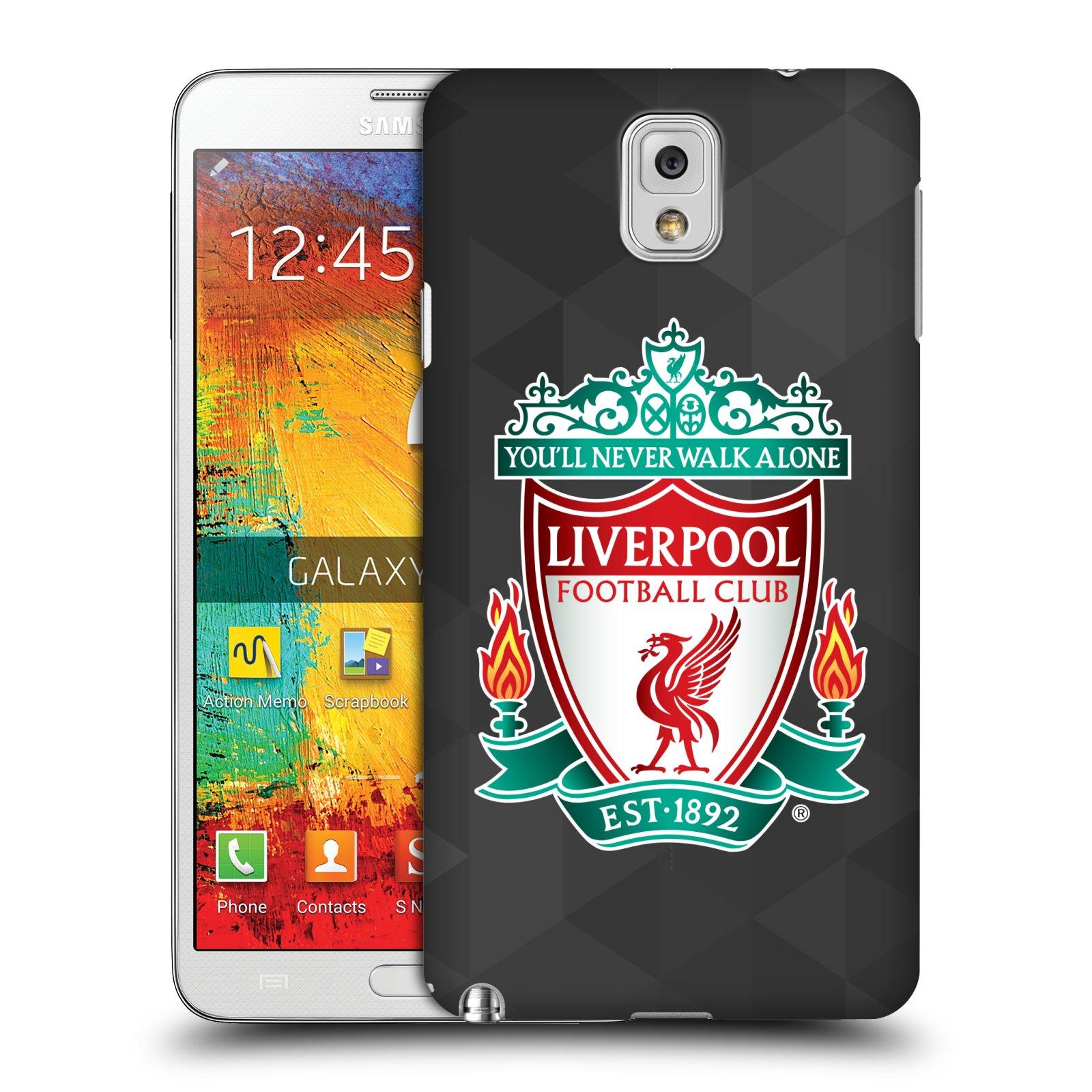 Plastové pouzdro na mobil Samsung Galaxy Note 3 HEAD CASE ZNAK LIVERPOOL FC OFFICIAL GEOMETRIC BLACK (Kryt či obal na mobilní telefon Liverpool FC Official pro Samsung Galaxy Note 3 SM-N9005)