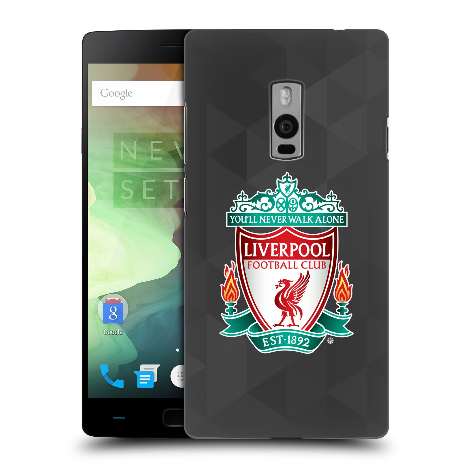 Plastové pouzdro na mobil OnePlus Two HEAD CASE ZNAK LIVERPOOL FC OFFICIAL GEOMETRIC BLACK (Kryt či obal na mobilní telefon Liverpool FC Official pro OnePlus Two)