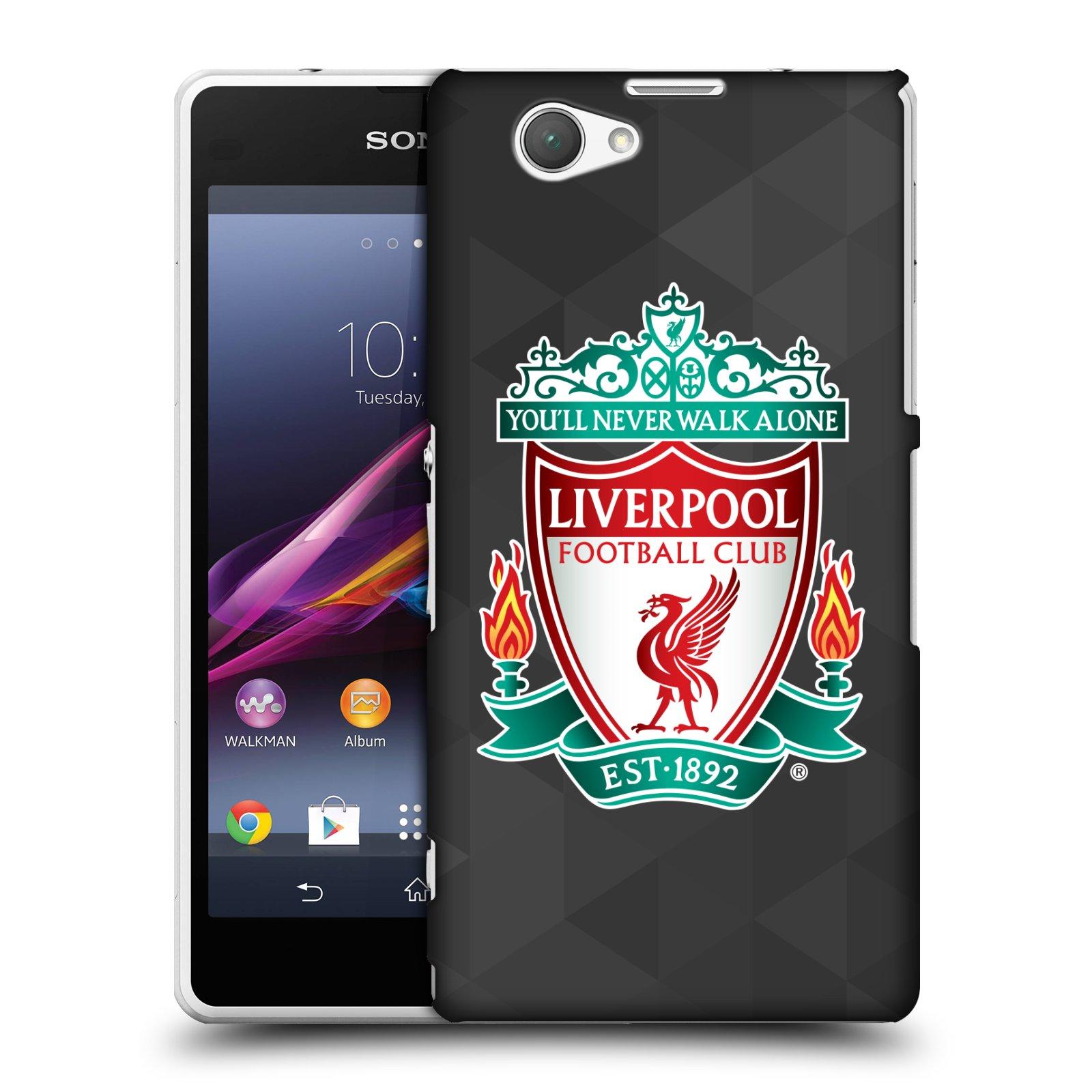 Plastové pouzdro na mobil Sony Xperia Z1 Compact D5503 HEAD CASE ZNAK LIVERPOOL FC OFFICIAL GEOMETRIC BLACK (Kryt či obal na mobilní telefon Liverpool FC Official pro Sony Xperia Z1 Compact)
