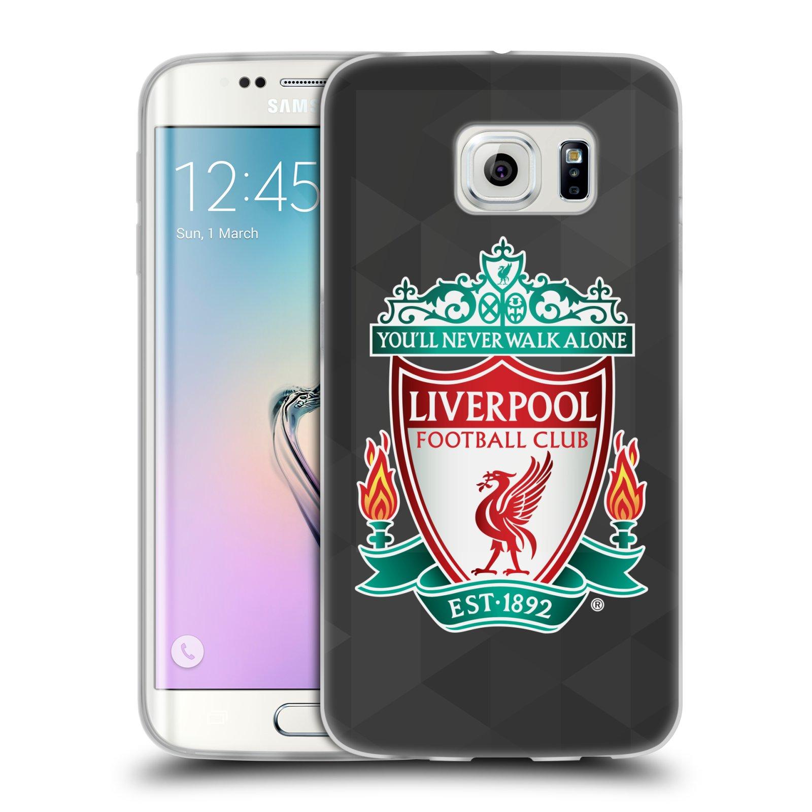 Silikonové pouzdro na mobil Samsung Galaxy S6 Edge HEAD CASE ZNAK LIVERPOOL FC OFFICIAL GEOMETRIC BLACK (Silikonový kryt či obal na mobilní telefon Liverpool FC Official pro Samsung Galaxy S6 Edge SM-G925F)
