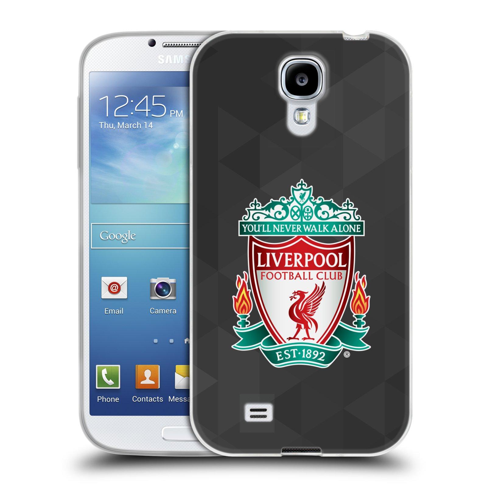 Silikonové pouzdro na mobil Samsung Galaxy S4 HEAD CASE ZNAK LIVERPOOL FC OFFICIAL GEOMETRIC BLACK (Silikonový kryt či obal na mobilní telefon Liverpool FC Official pro Samsung Galaxy S4 GT-i9505 / i9500)