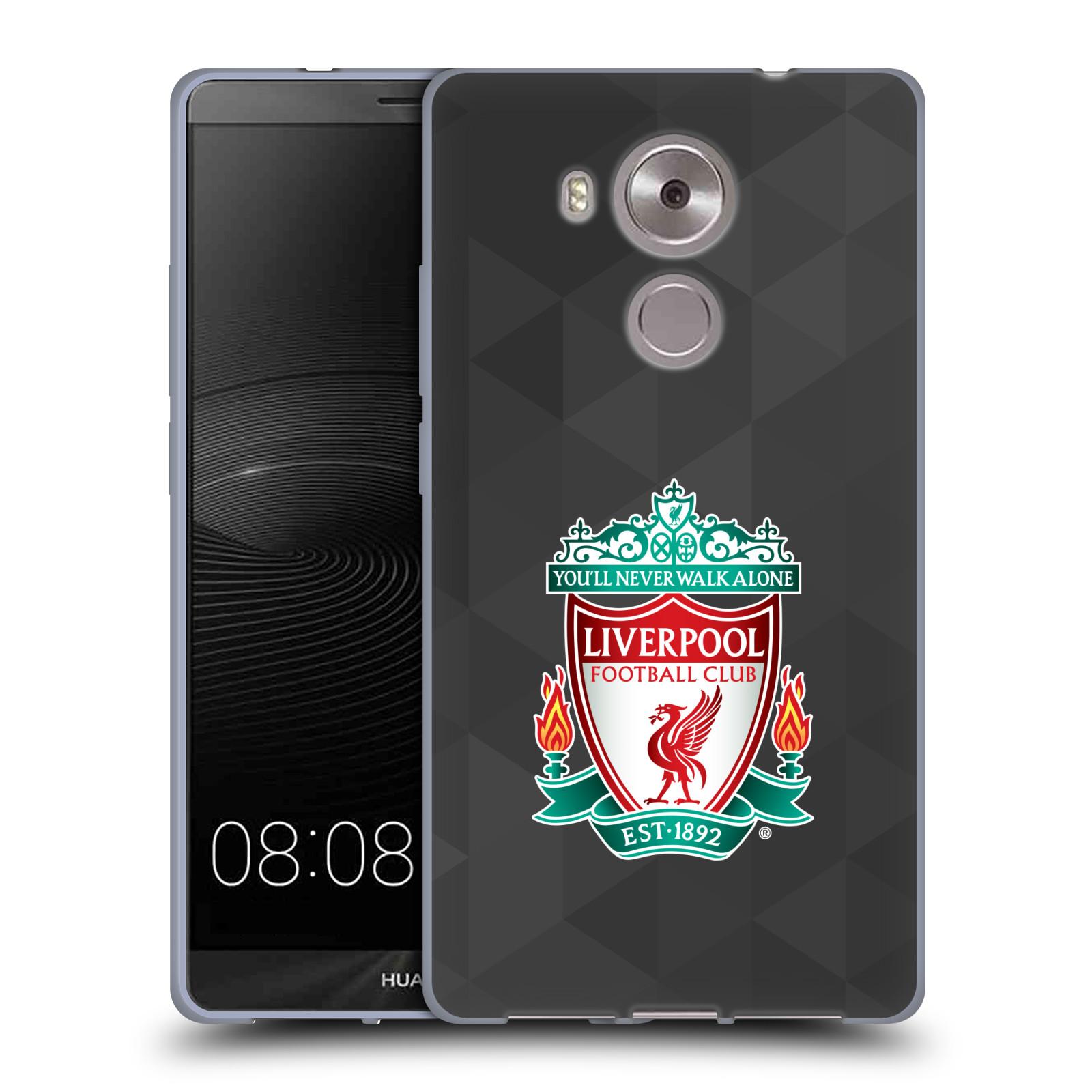 Silikonové pouzdro na mobil Huawei Ascend Mate 8 HEAD CASE ZNAK LIVERPOOL FC OFFICIAL GEOMETRIC BLACK (Silikonový kryt či obal na mobilní telefon Liverpool FC Official pro Huawei Ascend MATE8)