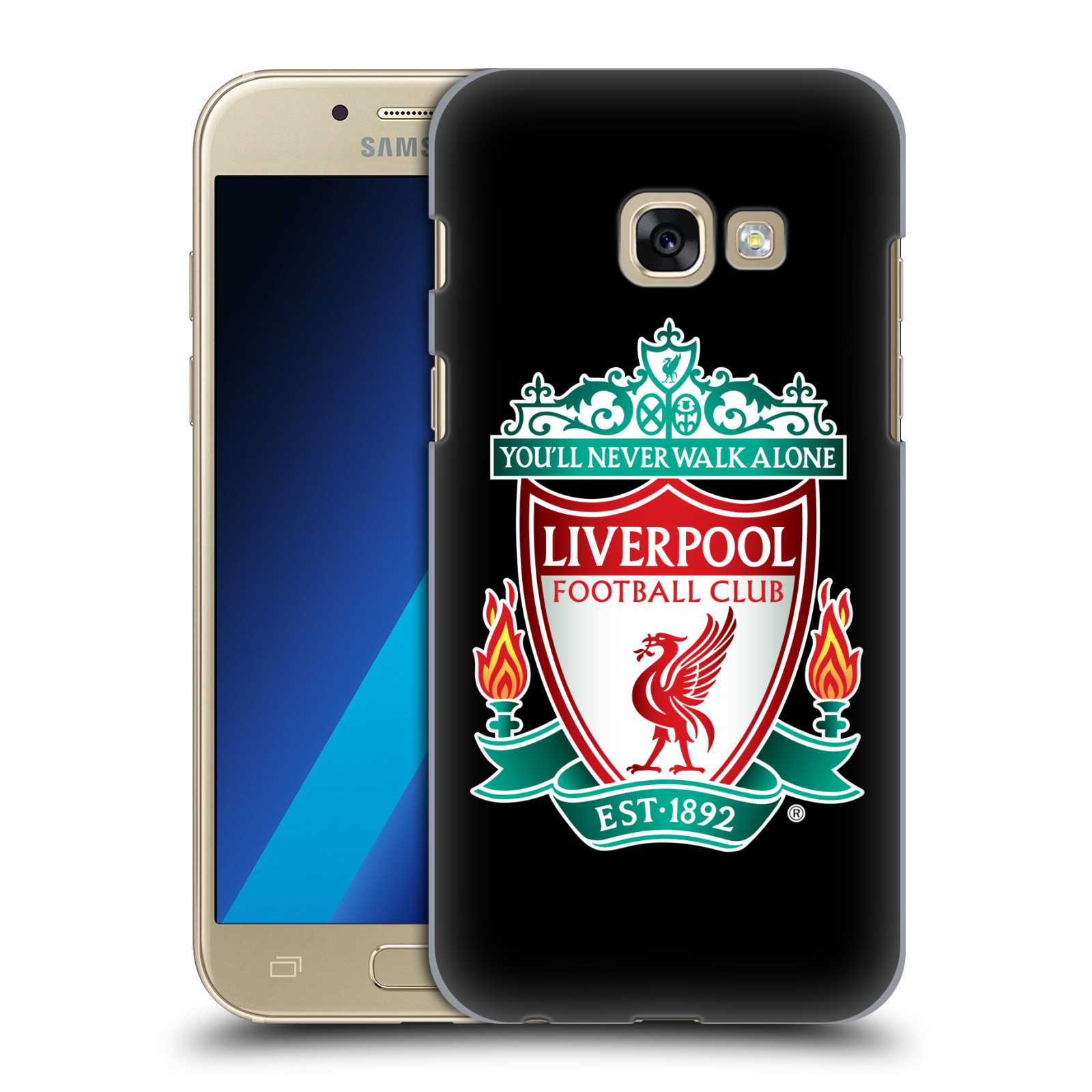 Plastové pouzdro na mobil Samsung Galaxy A3 (2017) HEAD CASE ZNAK LIVERPOOL FC OFFICIAL BLACK