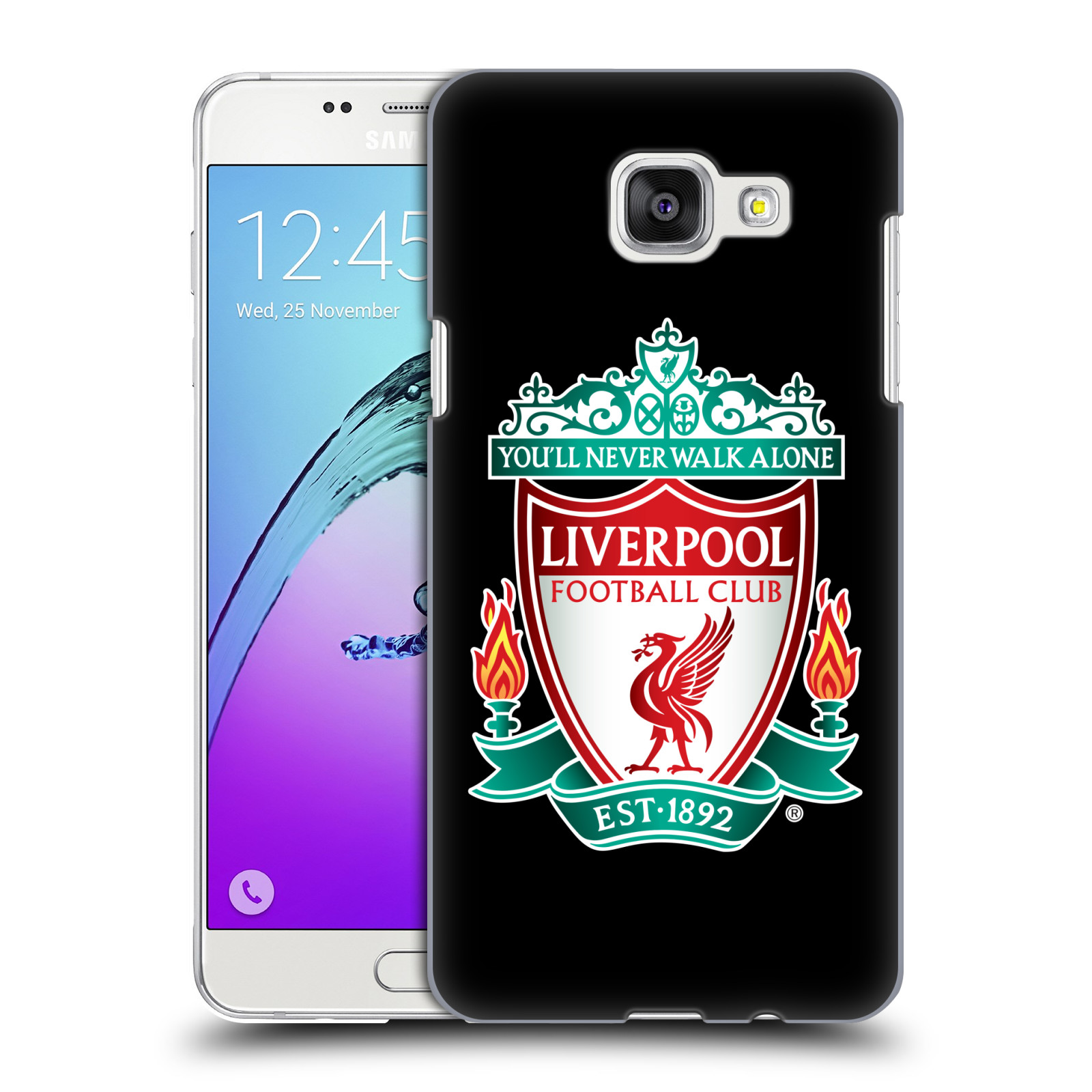 Plastové pouzdro na mobil Samsung Galaxy A5 (2016) HEAD CASE ZNAK LIVERPOOL FC OFFICIAL BLACK