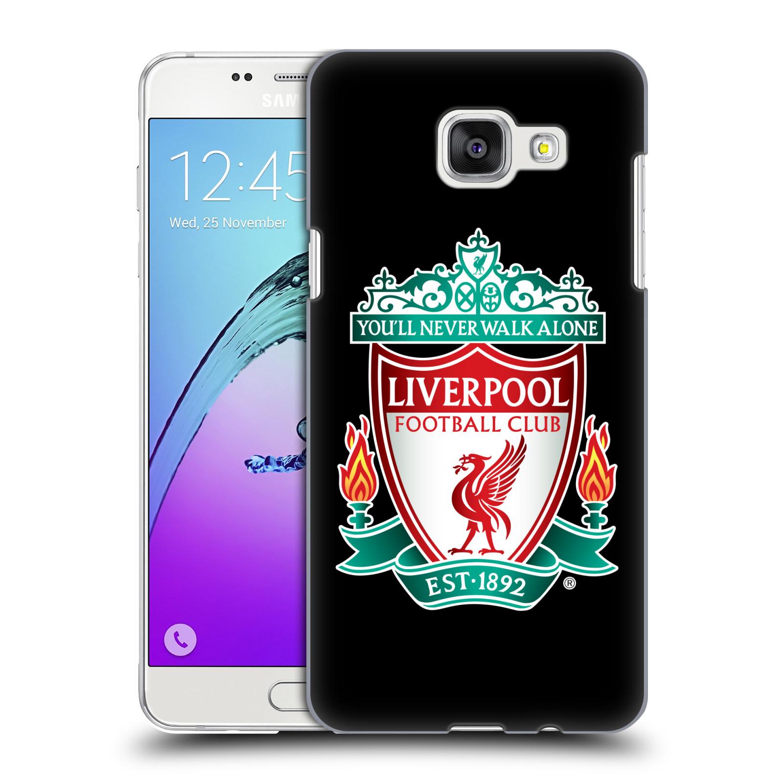 Plastové pouzdro na mobil Samsung Galaxy A5 (2016) HEAD CASE ZNAK LIVERPOOL FC OFFICIAL BLACK