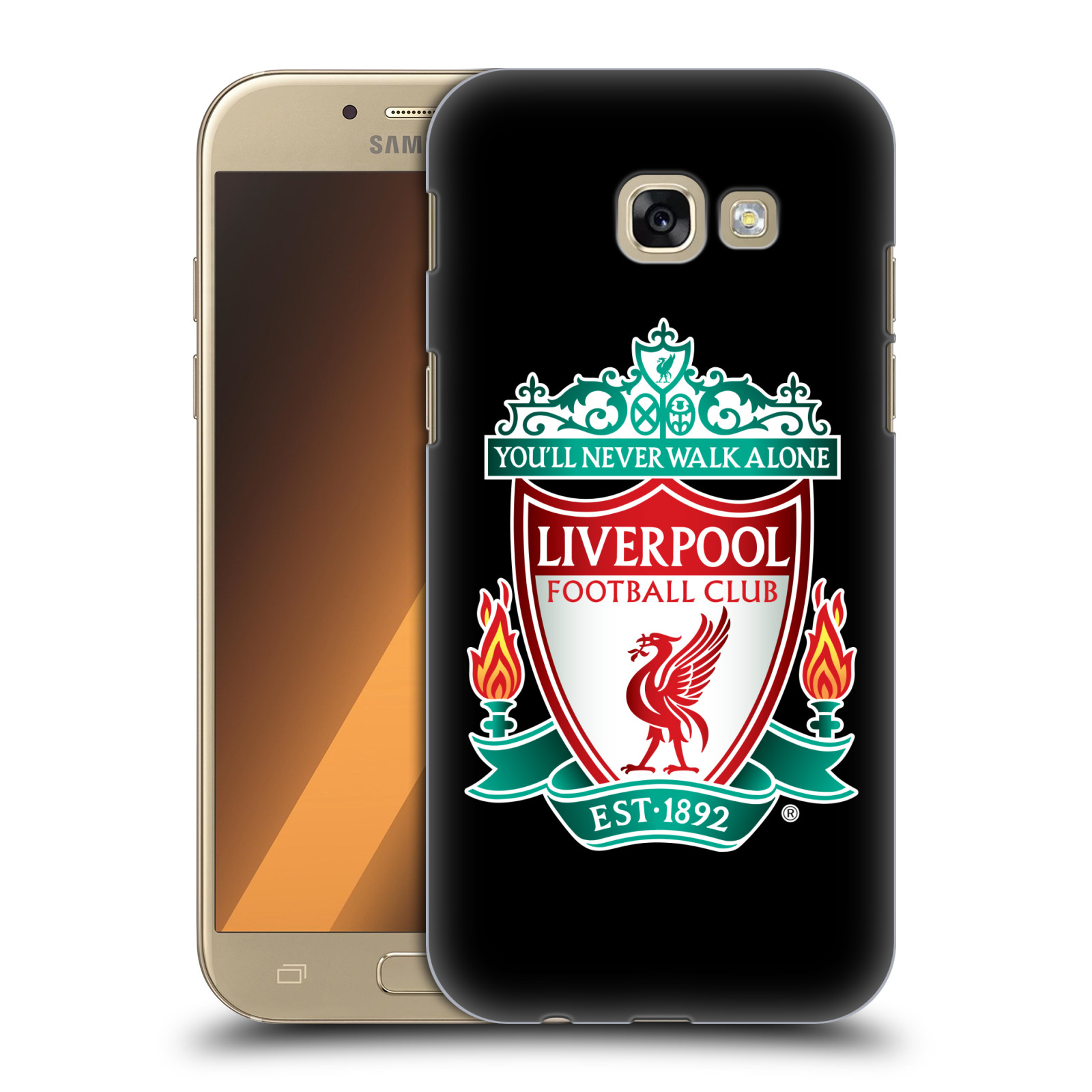 Plastové pouzdro na mobil Samsung Galaxy A5 (2017) HEAD CASE ZNAK LIVERPOOL FC OFFICIAL BLACK