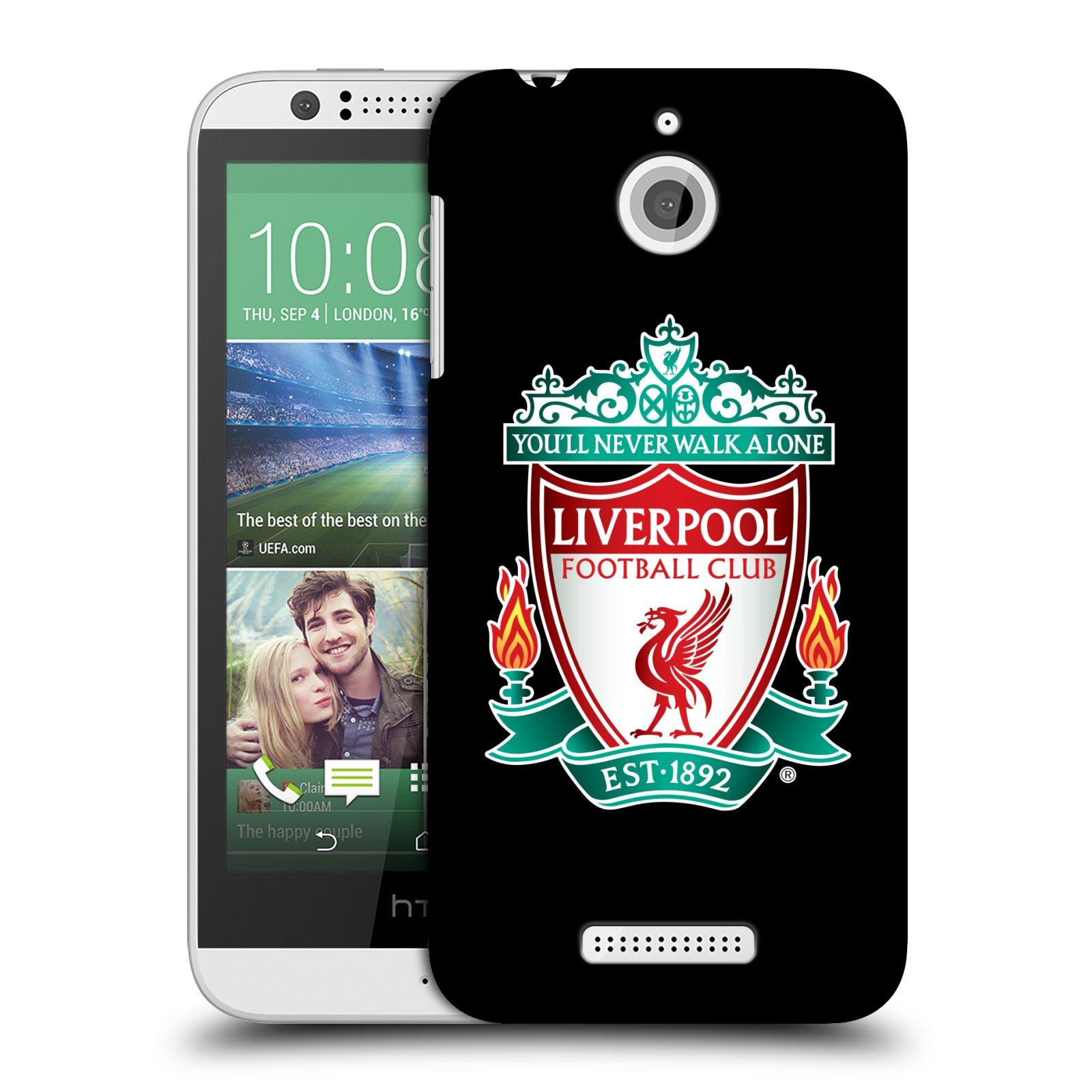 Plastové pouzdro na mobil HTC Desire 510 HEAD CASE ZNAK LIVERPOOL FC OFFICIAL BLACK (Kryt či obal na mobilní telefon Liverpool FC Official pro HTC Desire 510)