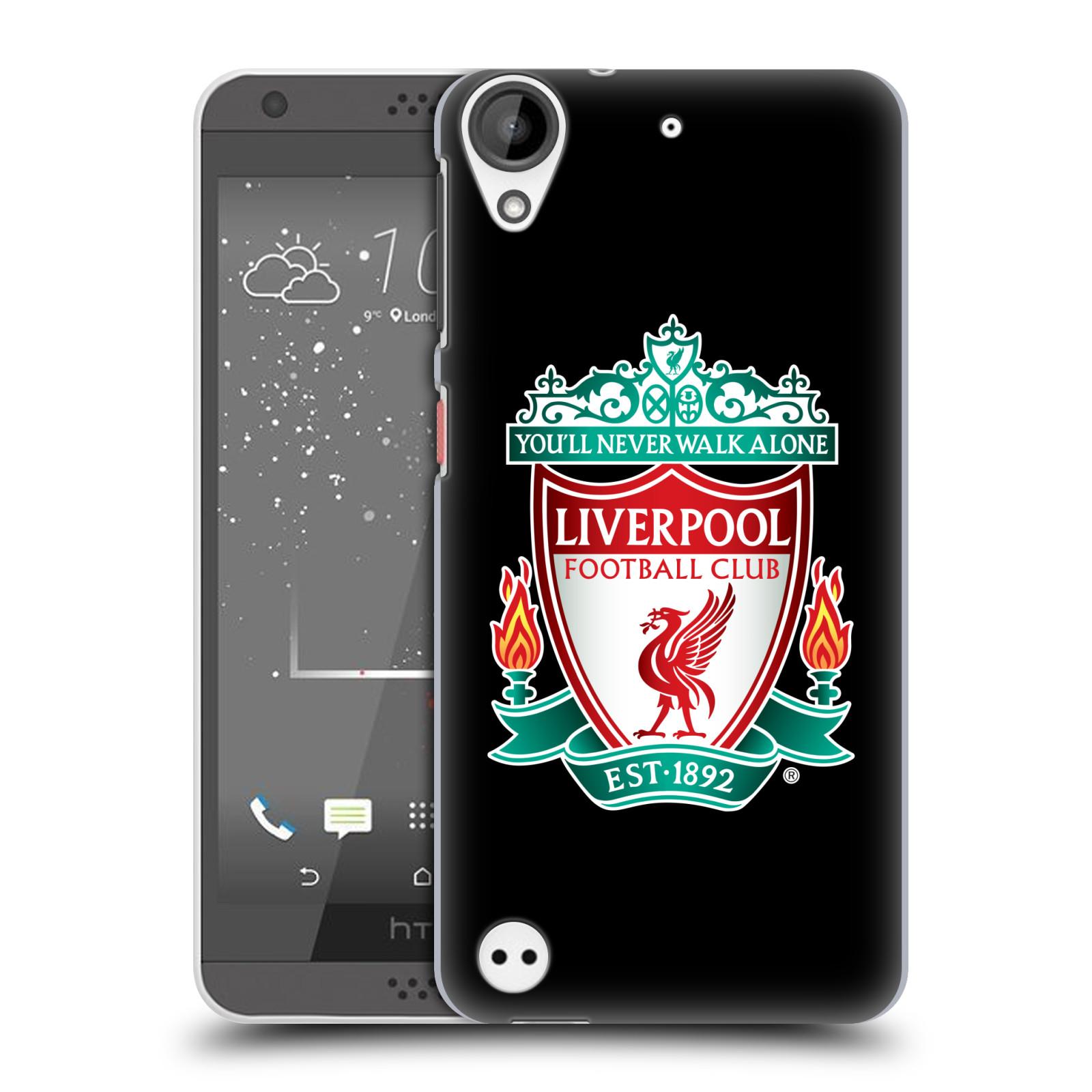 Plastové pouzdro na mobil HTC Desire 530 HEAD CASE ZNAK LIVERPOOL FC OFFICIAL BLACK (Plastový kryt či obal na mobilní telefon Liverpool FC Official pro HTC Desire 530)