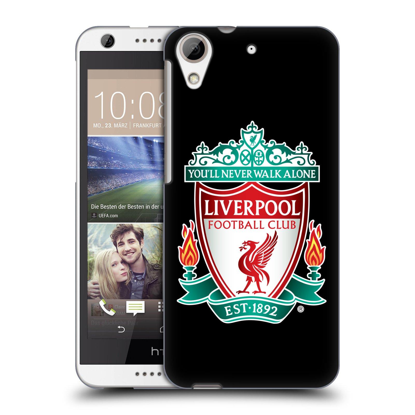 Plastové pouzdro na mobil HTC Desire 626 / 626G HEAD CASE ZNAK LIVERPOOL FC OFFICIAL BLACK (Kryt či obal na mobilní telefon Liverpool FC Official pro HTC Desire 626G Dual SIM a HTC Desire 626)