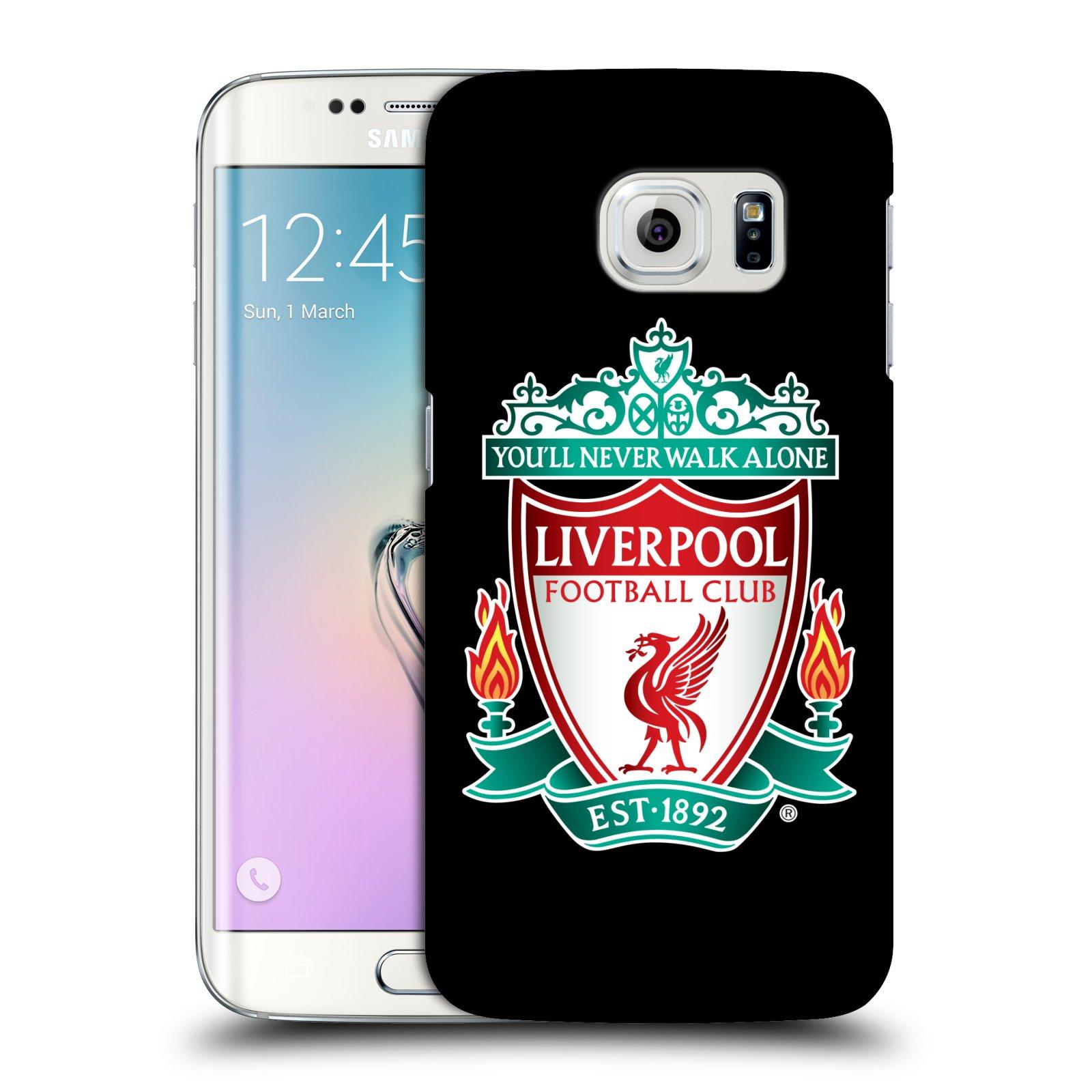 Plastové pouzdro na mobil Samsung Galaxy S6 Edge HEAD CASE ZNAK LIVERPOOL FC OFFICIAL BLACK (Kryt či obal na mobilní telefon Liverpool FC Official pro Samsung Galaxy S6 Edge SM-G925F)